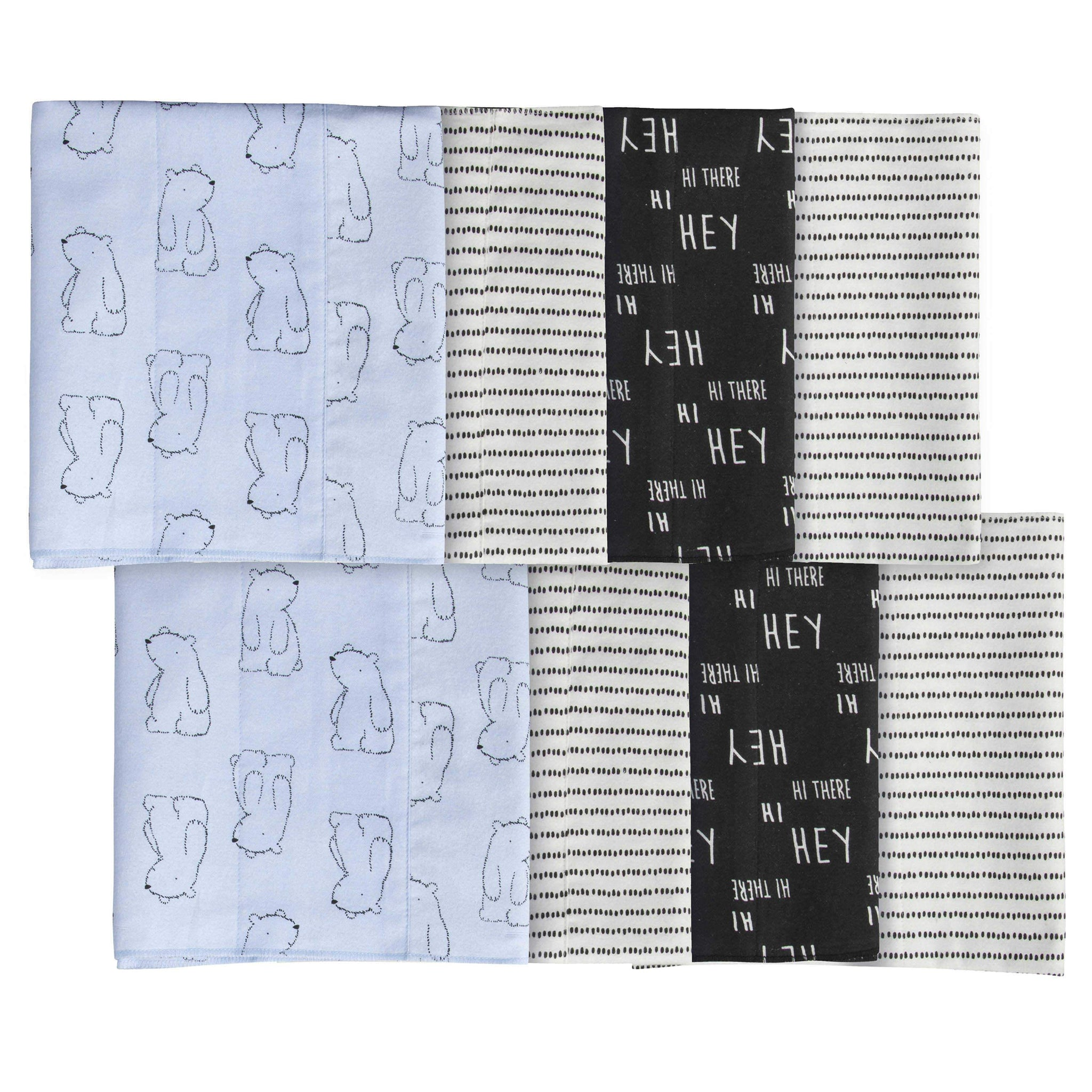 Gerber® 8-pack Baby Boys' Bear Burpcloths