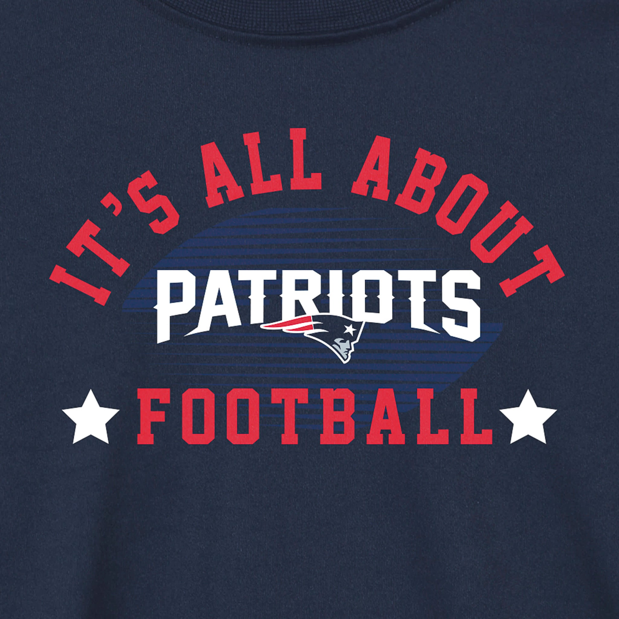 New England Patriots Baby and Toddler Boys Long Sleeve Tee Shirt-Gerber Childrenswear