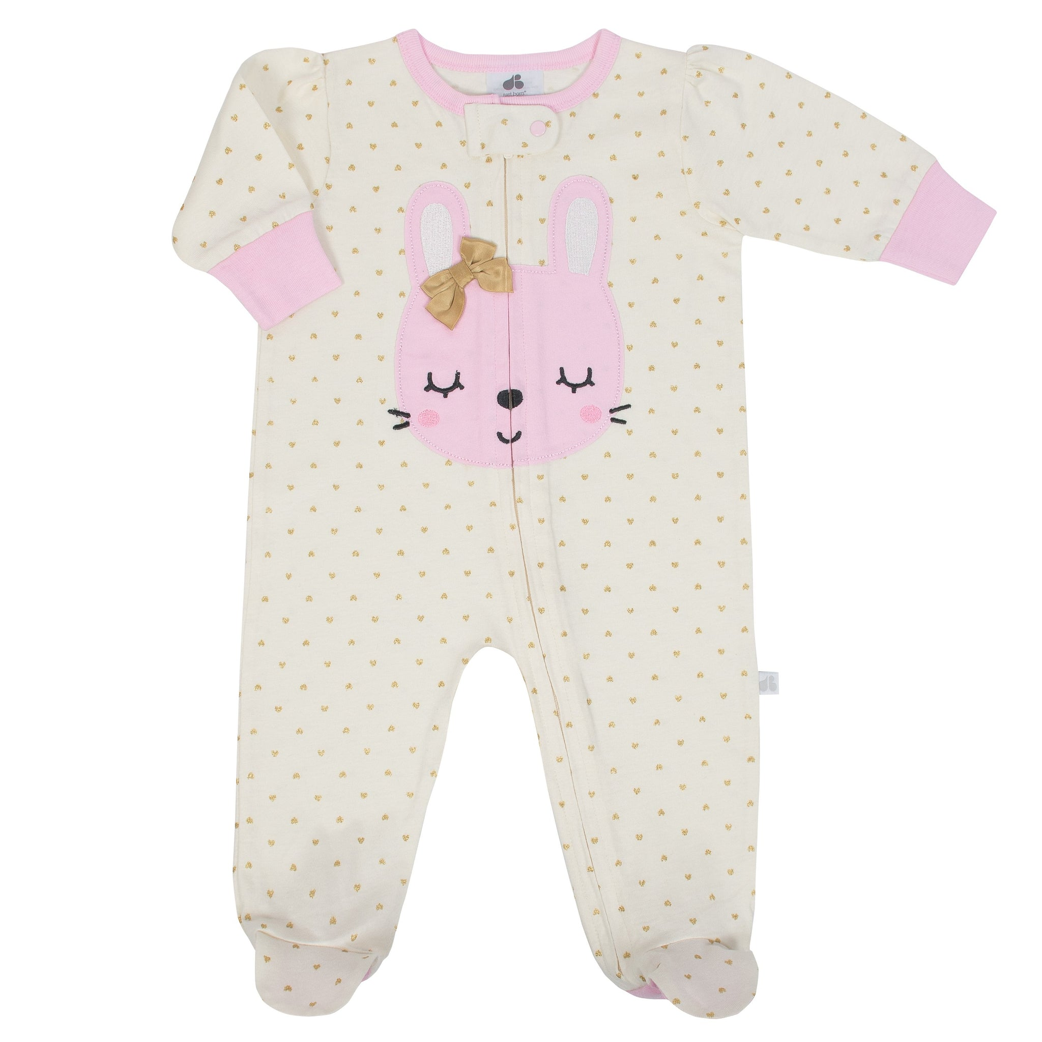 Baby Girl Just Born® Organic Bunny Sleep N' Play
