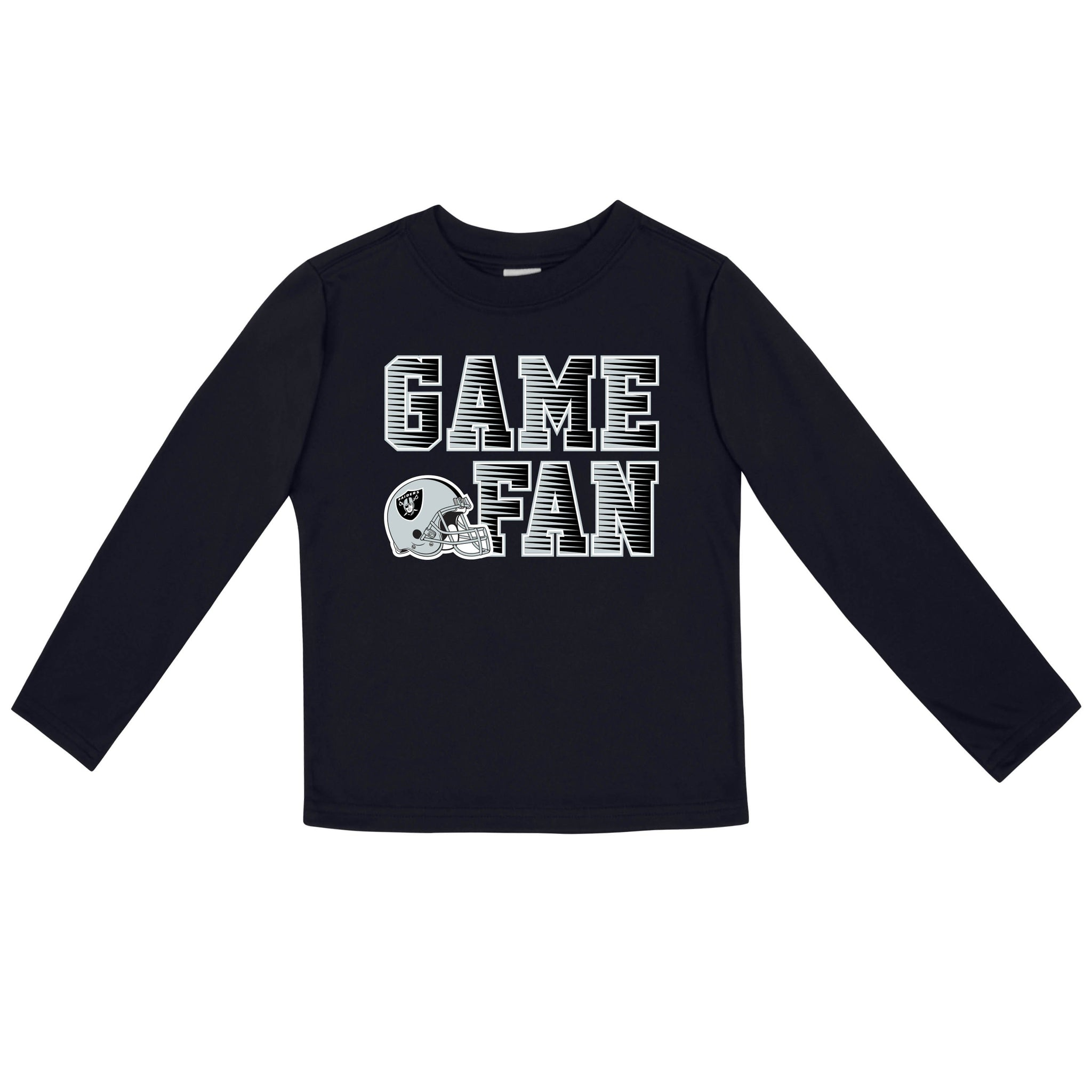 Las Vegas Raiders Boys Long Sleeve Tee Shirt-Gerber Childrenswear