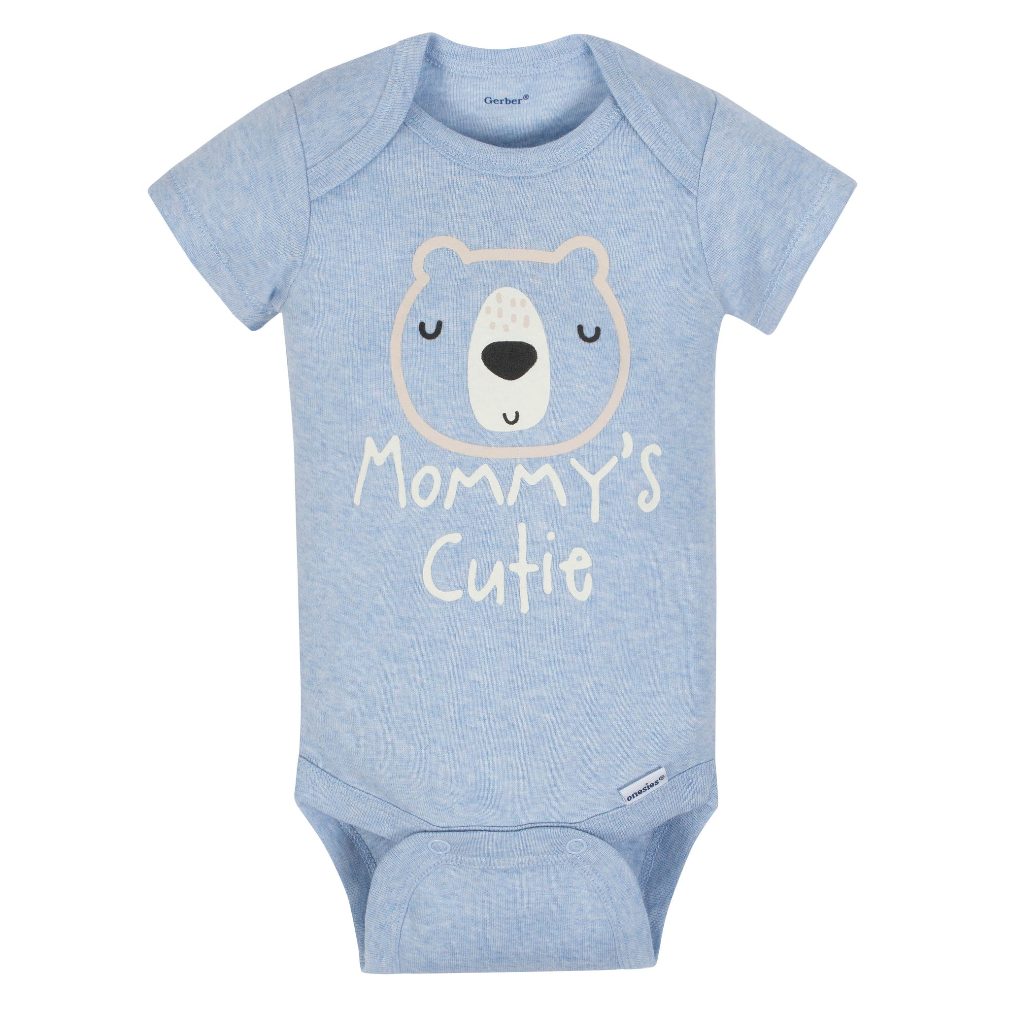 Gerber 3-Piece Organic Baby Boys Bear Bodysuit, Pants & Cap Set