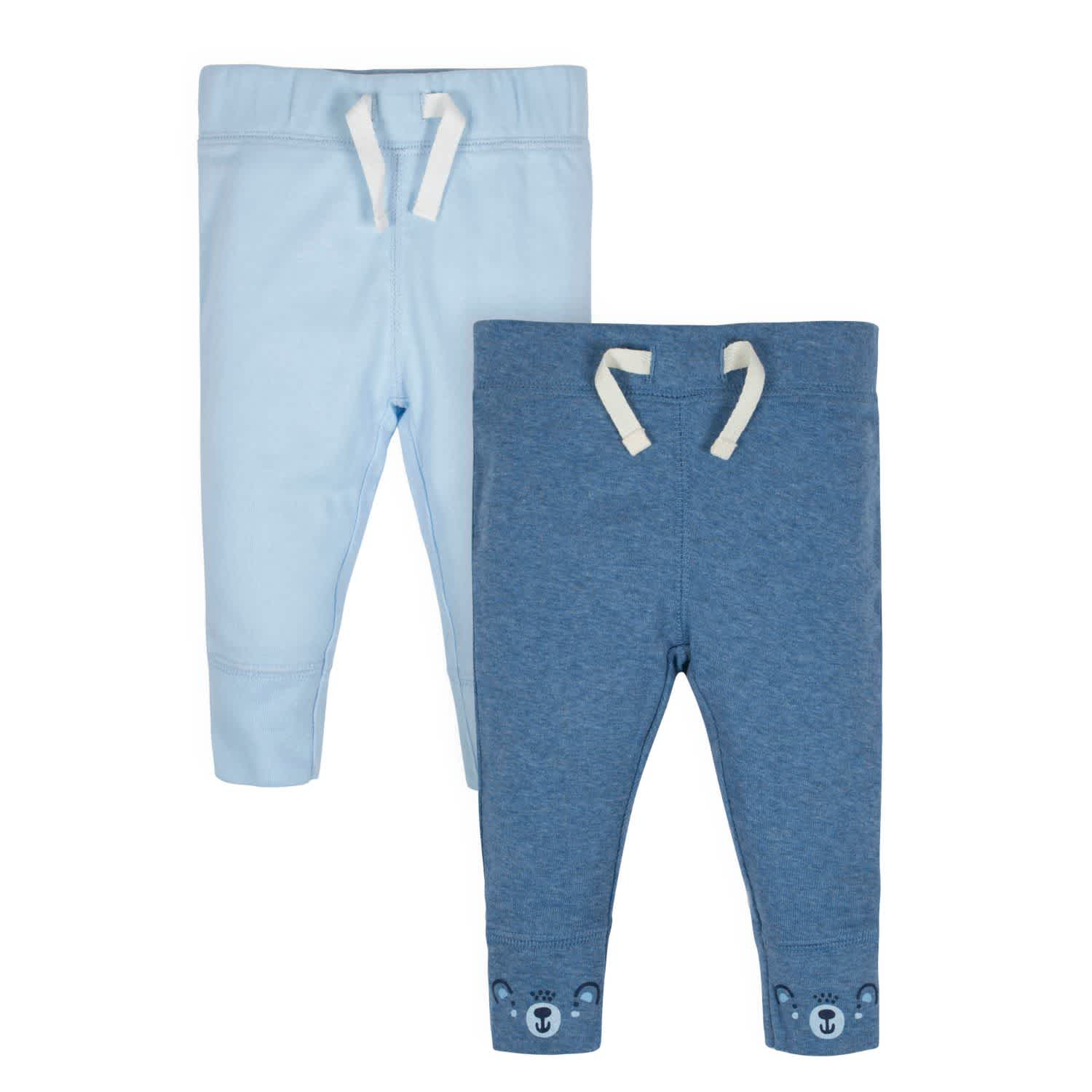 Gerber® Organic 2-Pack Baby Boys Teddy Active Pants