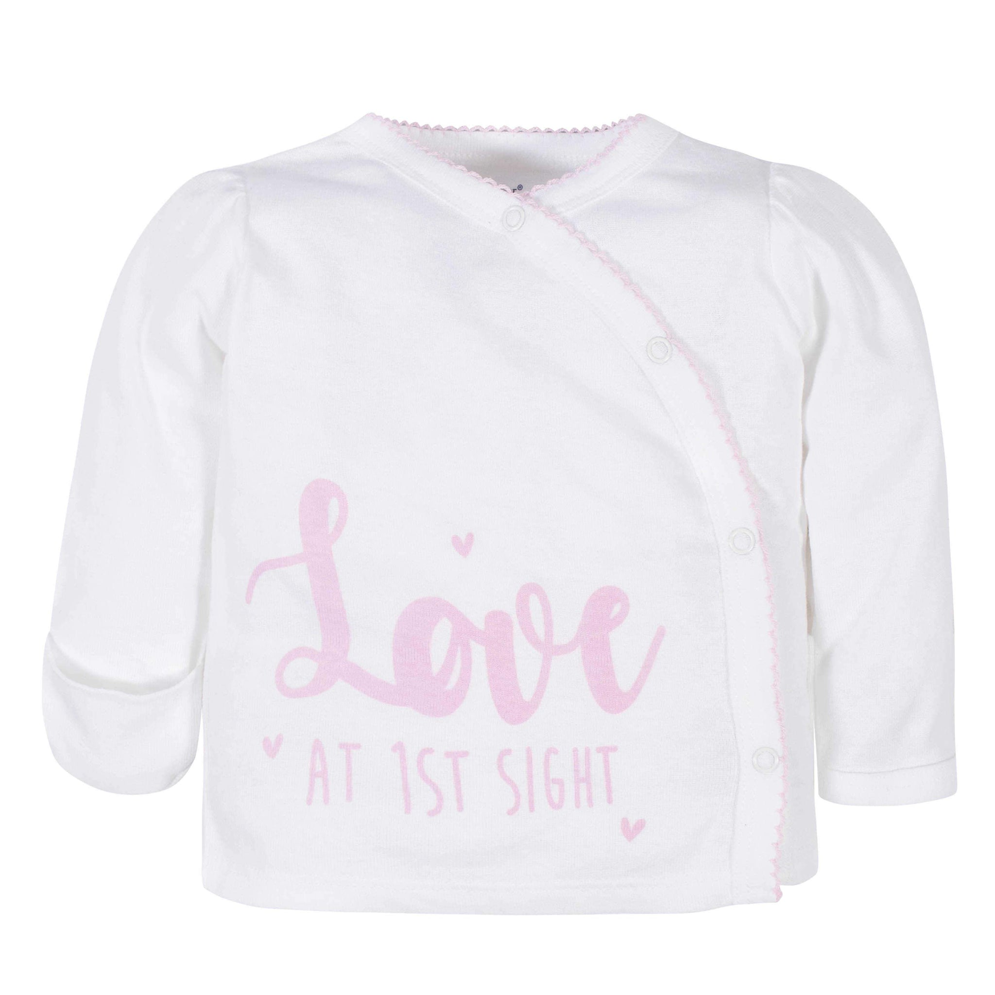 3-Piece Baby Girls Love At First Sight Take-Me-Home Set