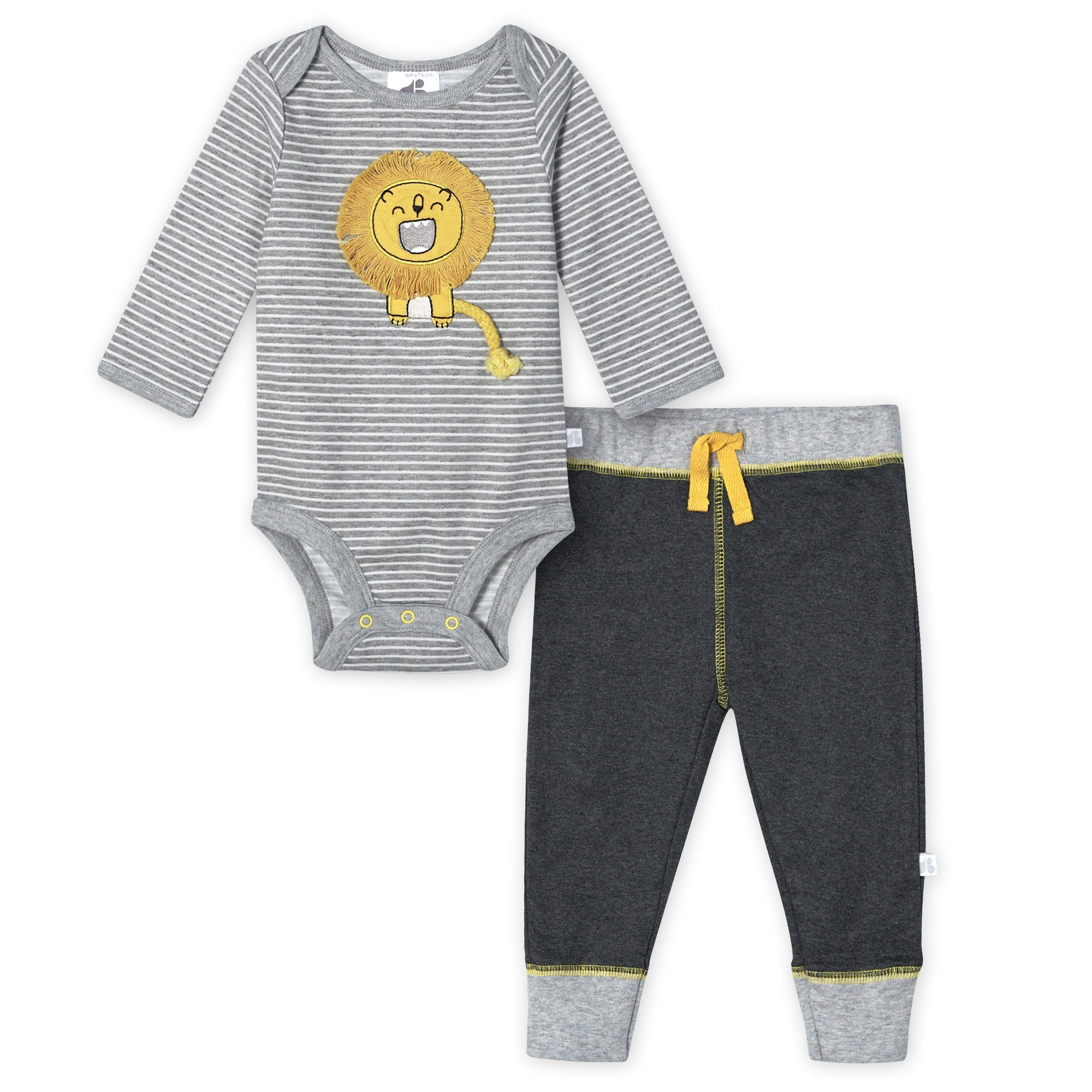 Organic Baby Boys 2-Piece Lil' Lion Long Sleeve Bodysuit and Pant Set-Gerber Childrenswear