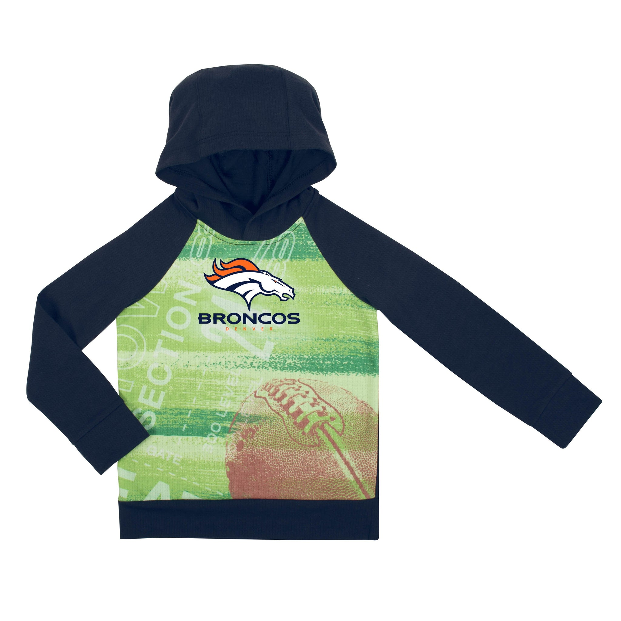 Denver Broncos Boys Pullover Hoodie-Gerber Childrenswear