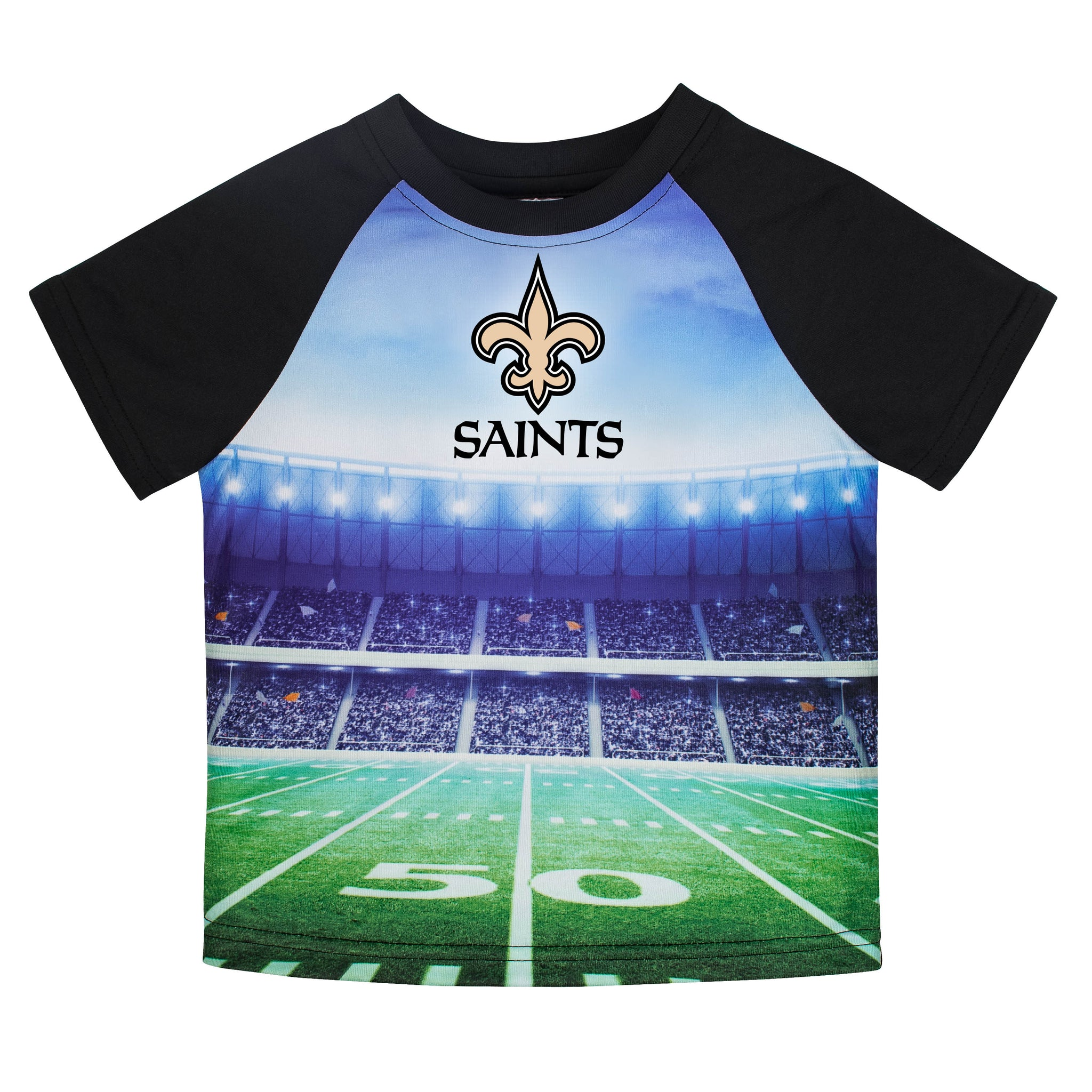 New Orleans Saints Boys Short Sleeve Tee Shirt