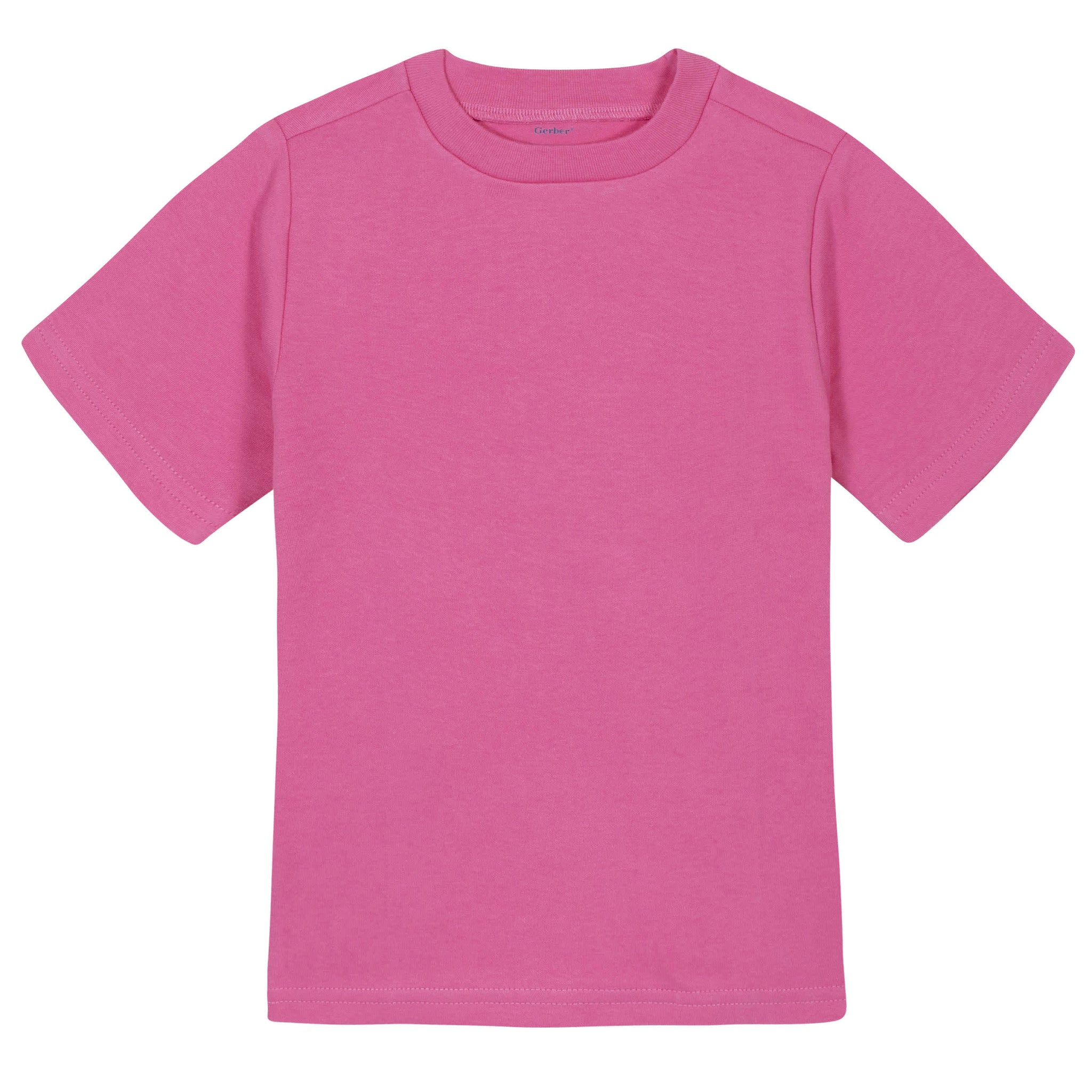 Gerber® Premium Hot Pink Short Sleeve Tee Shirt - 10 Colors Available