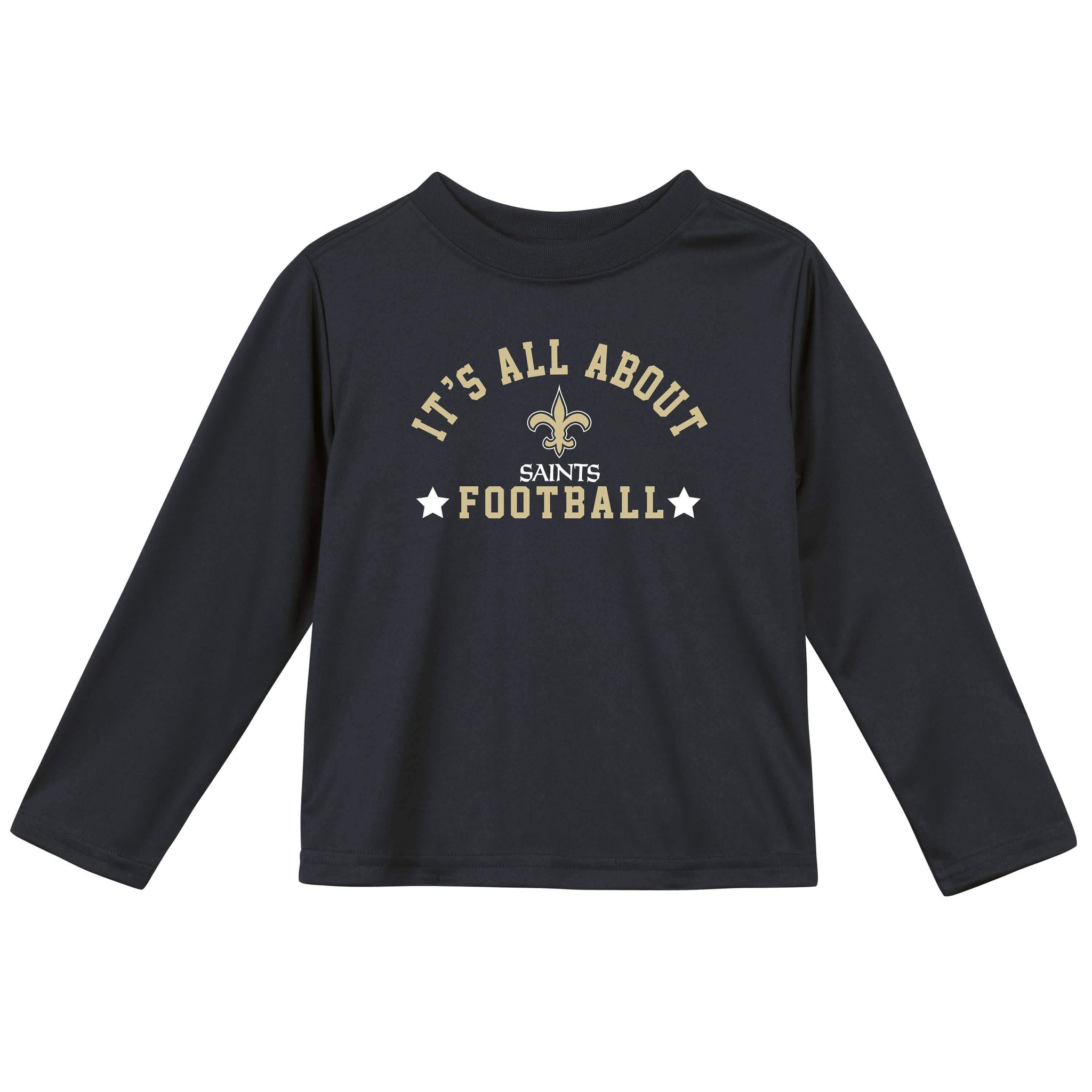 New Orleans Saints Baby and Toddler Boys Long Sleeve Tee Shirt-Gerber Childrenswear