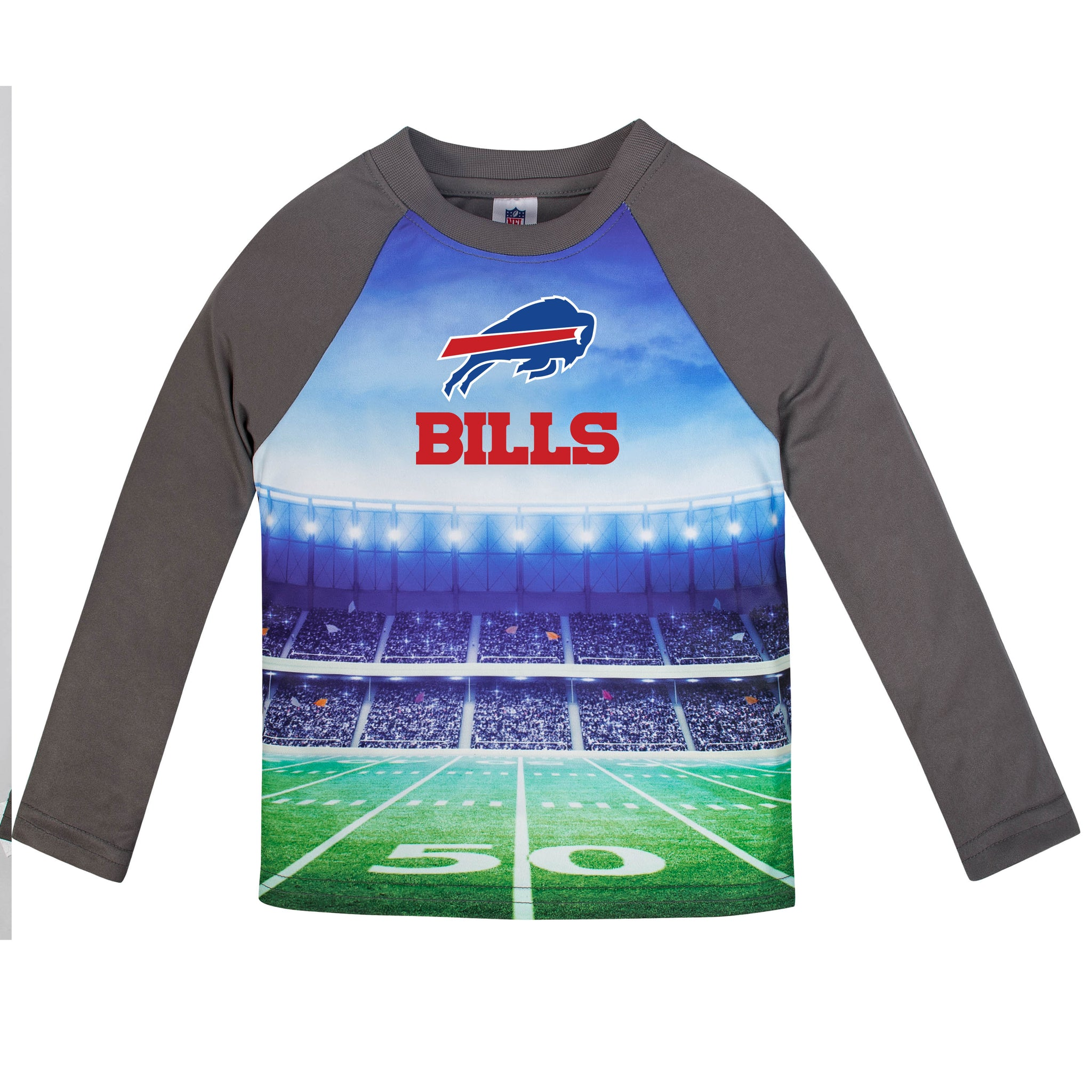 Buffalo Bills Boys Long Sleeve Tee Shirt-Gerber Childrenswear