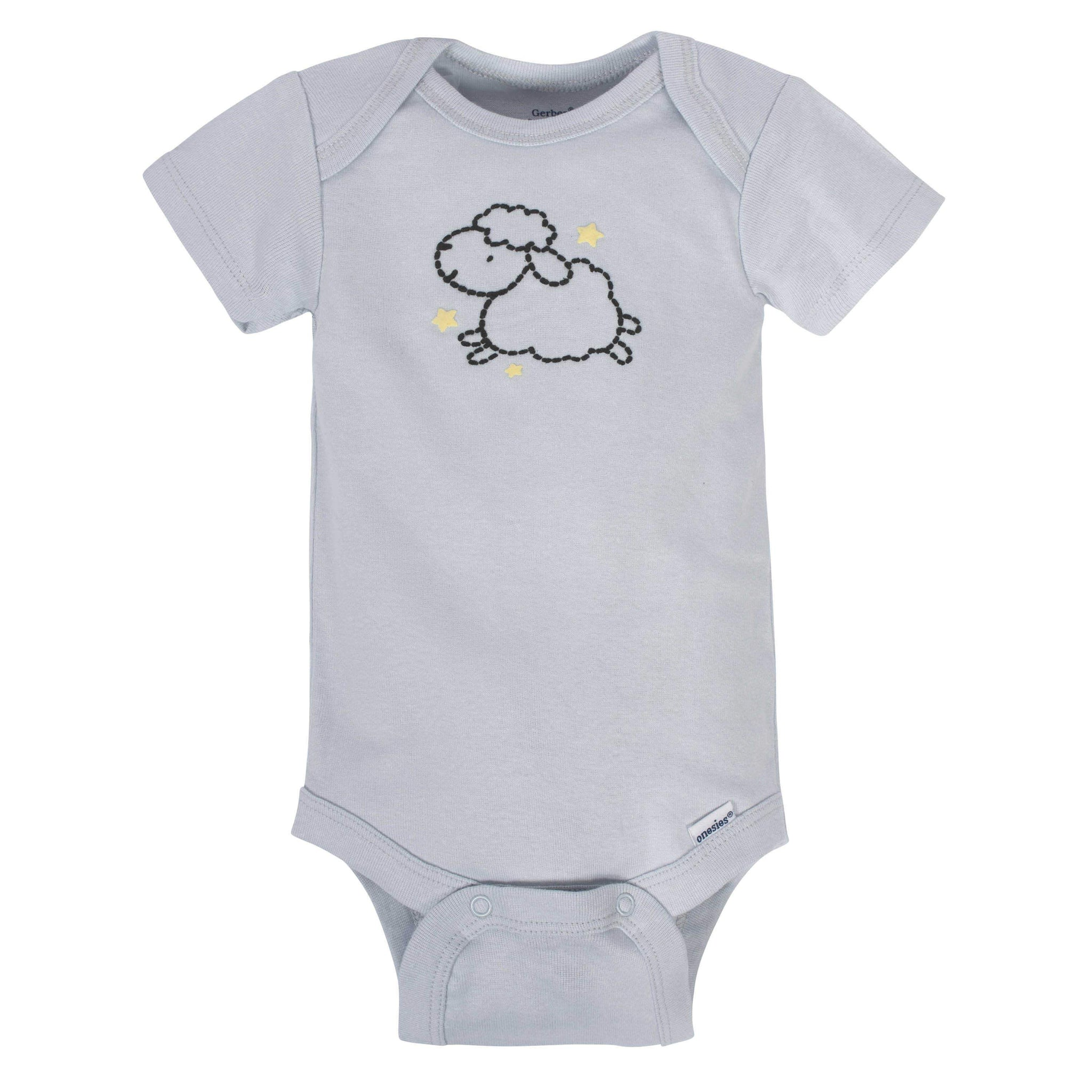 Gerber® 8-pack Baby Neutral Sheep Short Sleeve Onesies®