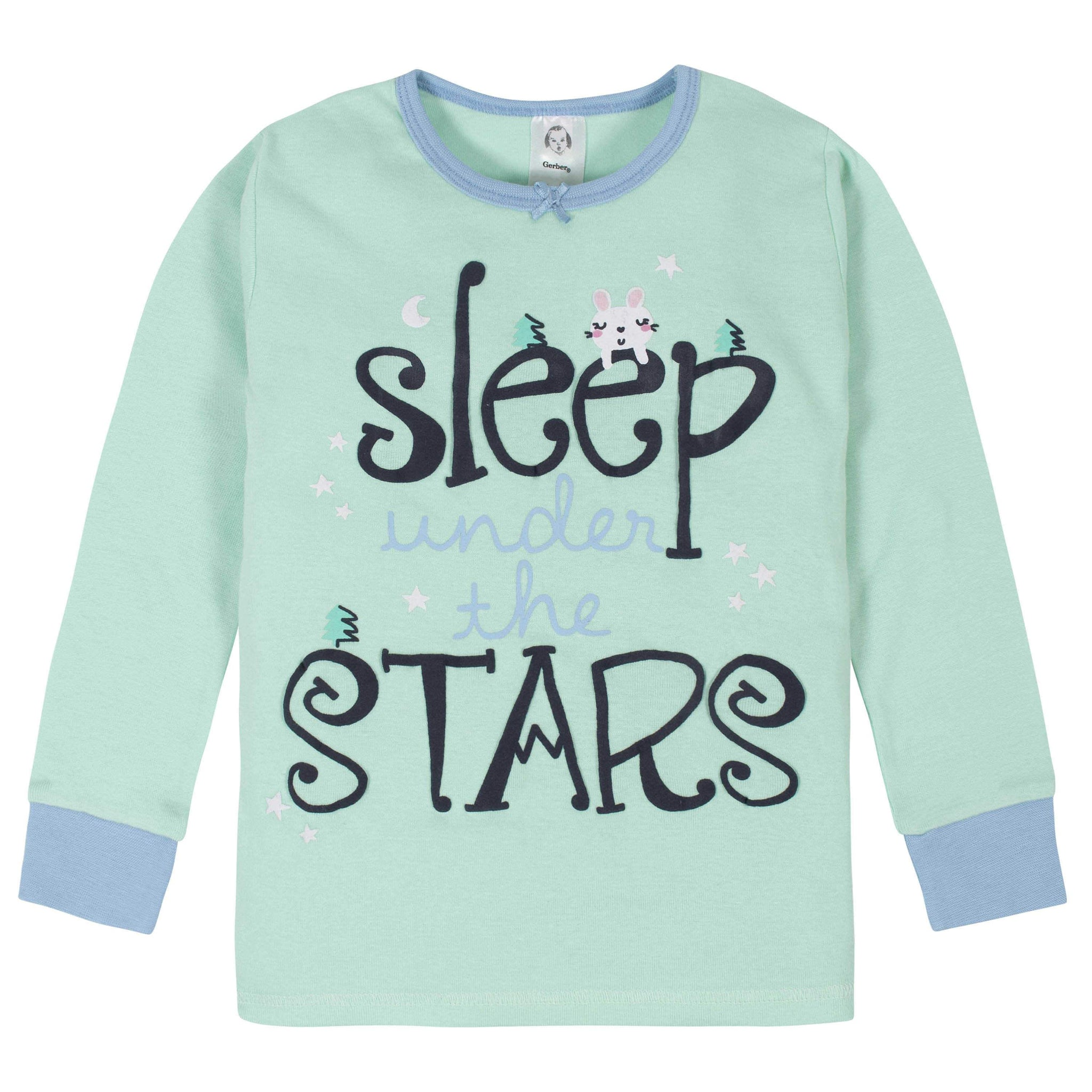 4-Piece Girls Camping Pajama Set