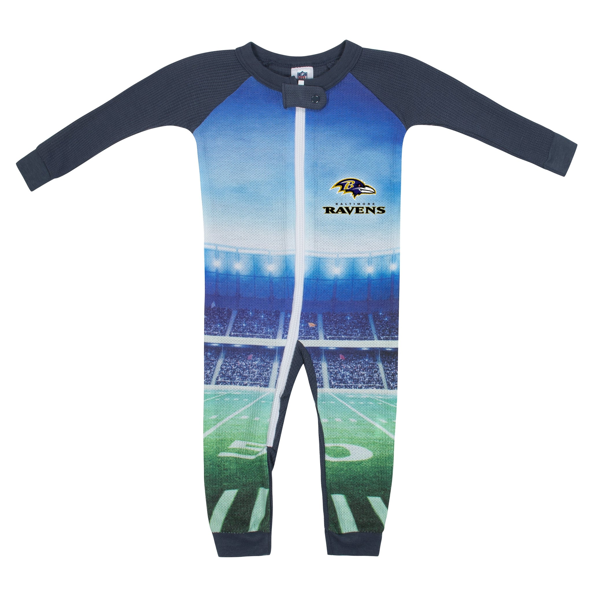 Baltimore Ravens Boys Union Suit-Gerber Childrenswear