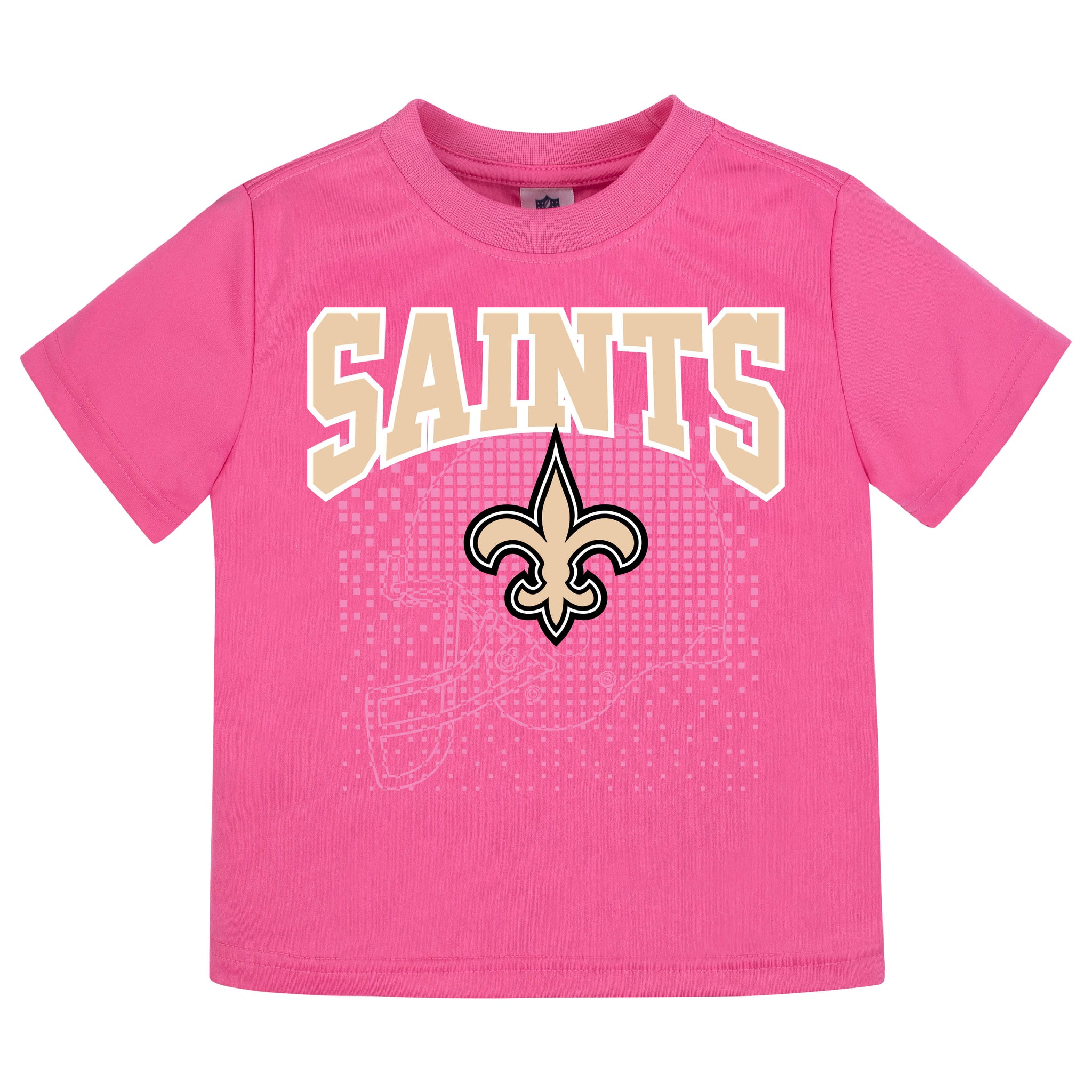 New Orleans Saints Girls Short Sleeve Tee Shirt