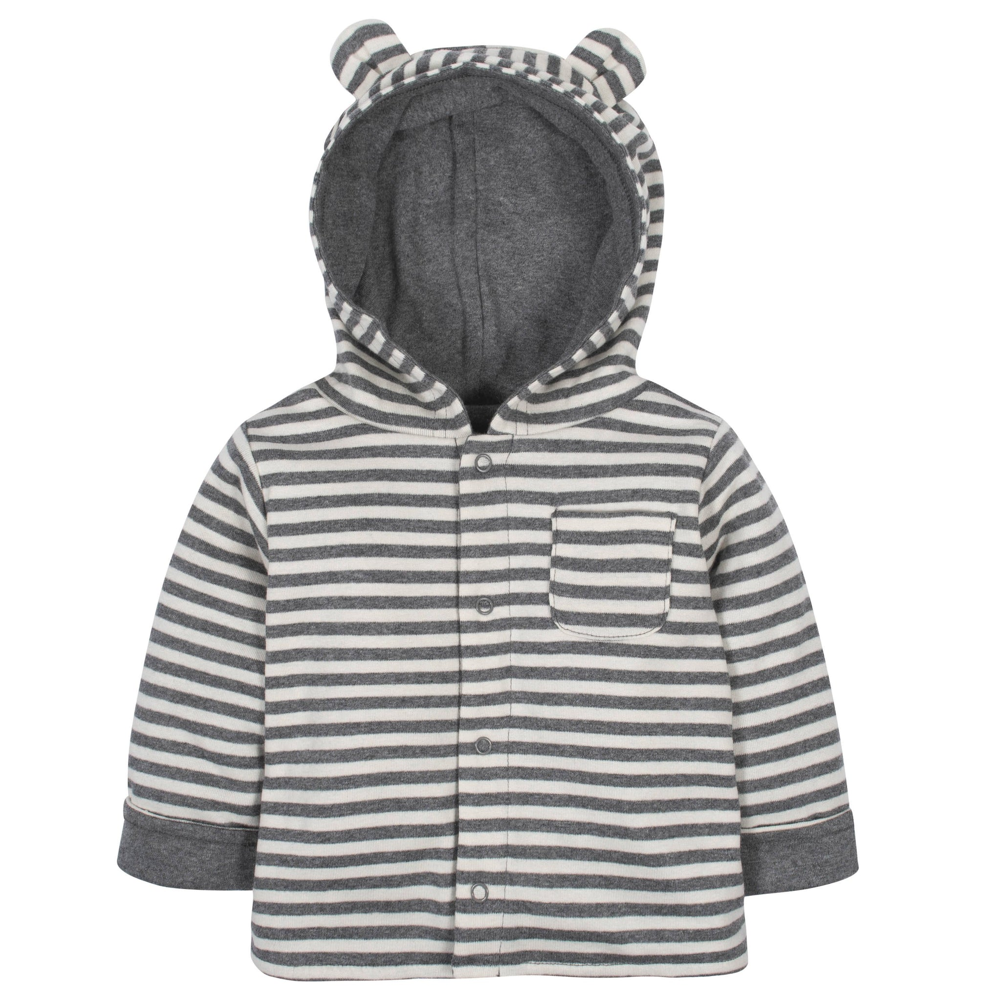 Gerber® Baby Striped Reversible Hooded Cardigan
