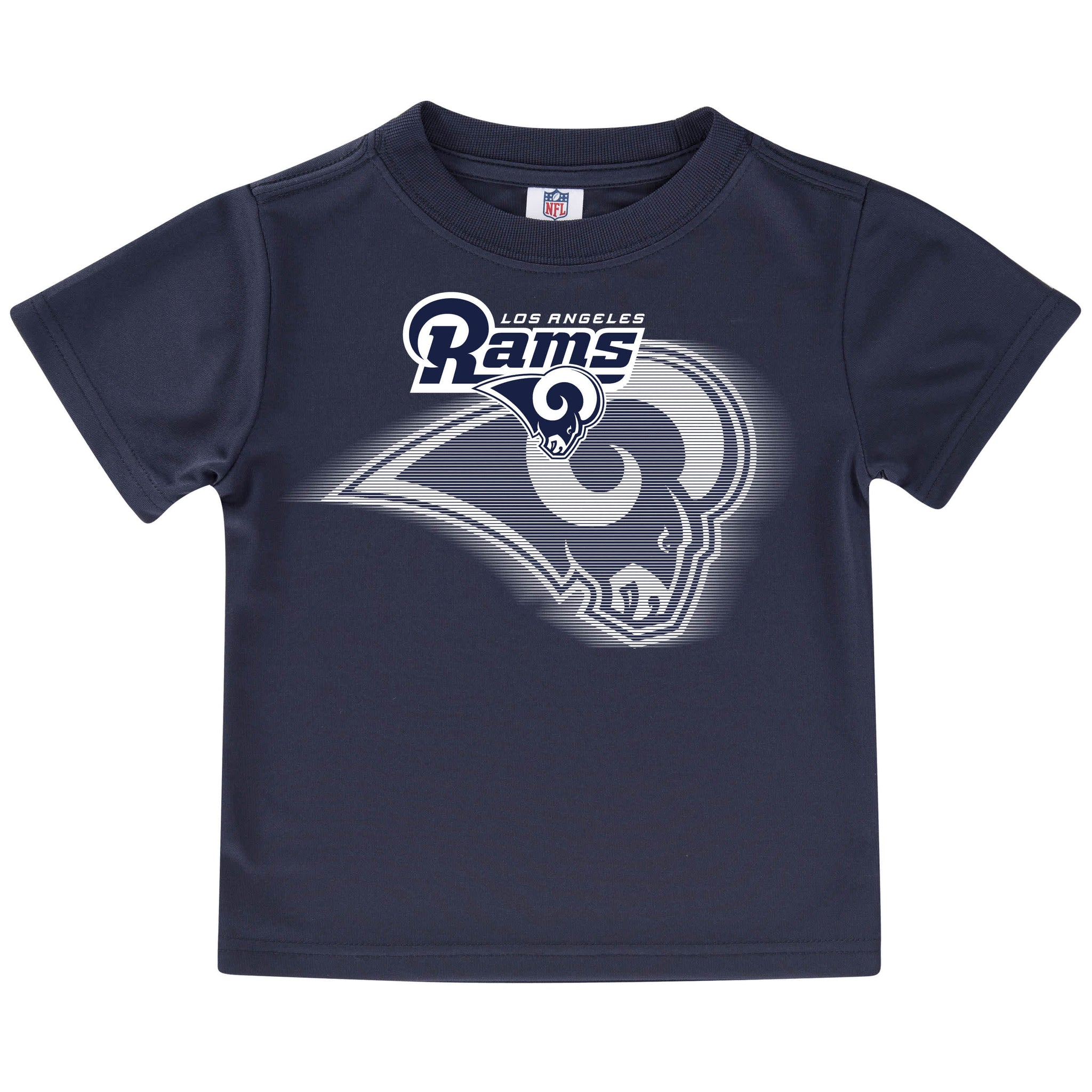 Los Angeles Rams Toddler Boys Short Sleeve Logo Tee Shirt-Gerber Childrenswear