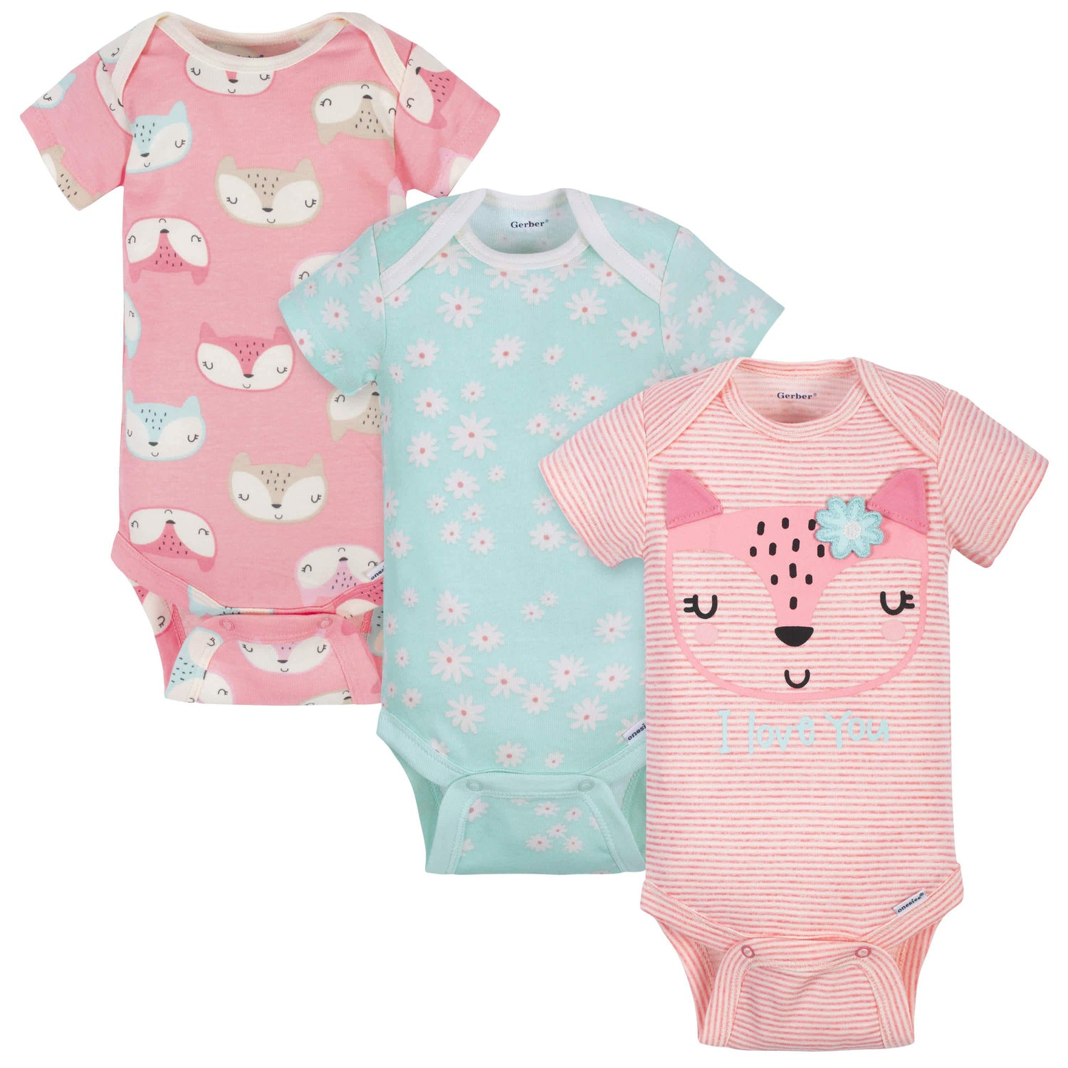 Gerber Baby Girls Onesies 3 Pack NEW Bodysuits Size 12 Month Butterfly