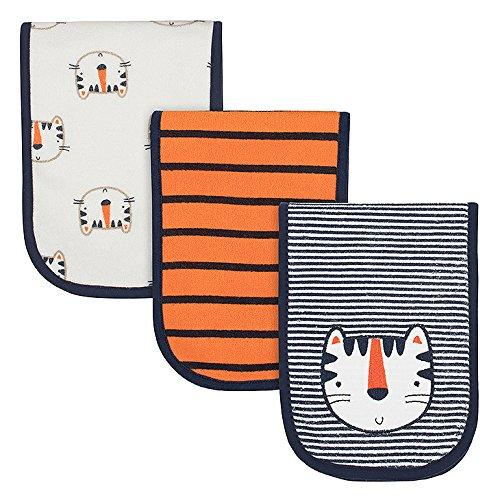 3-Pack Boys Tiger Burp Cloths