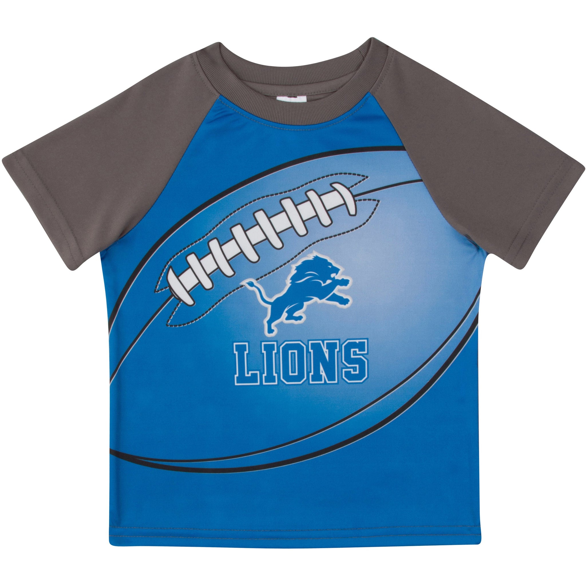 Detroit Lions Boys Short Sleeve Tee Shirt-Gerber Childrenswear