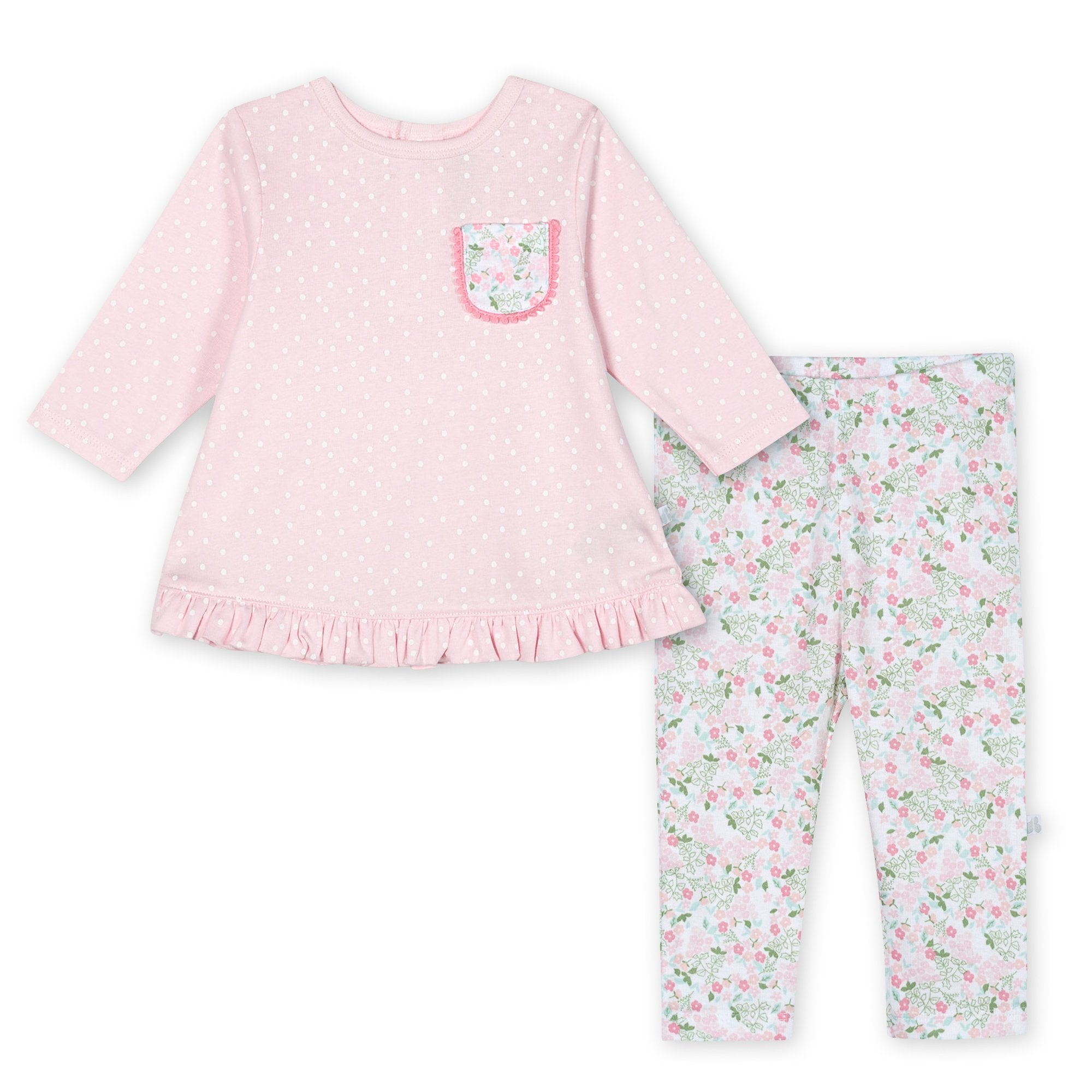 Just Born® Organic Baby Girls 2-Piece Lil' Llama Shirt and Pant Set