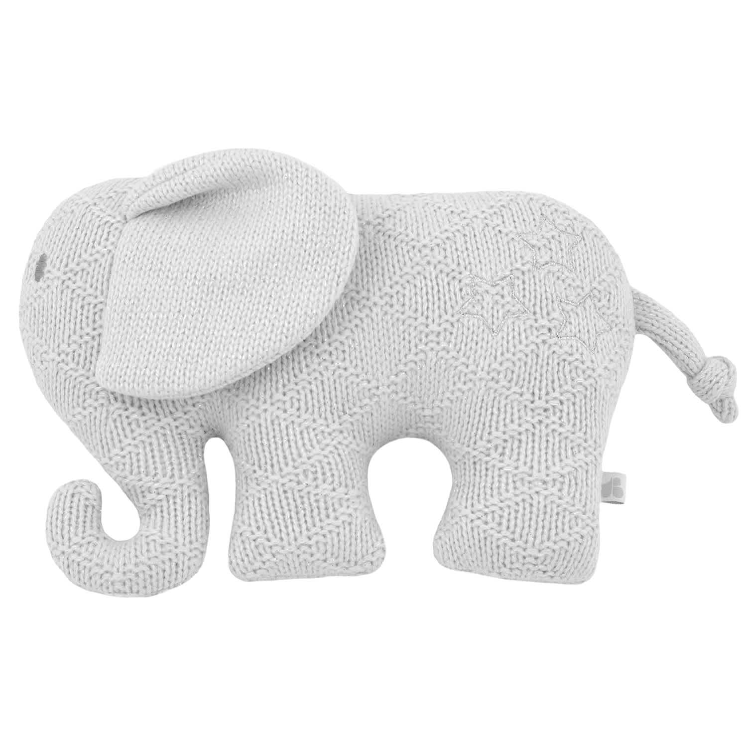 Just Born® Baby Neutral Elephant Knit Plush Toy-Gerber Childrenswear