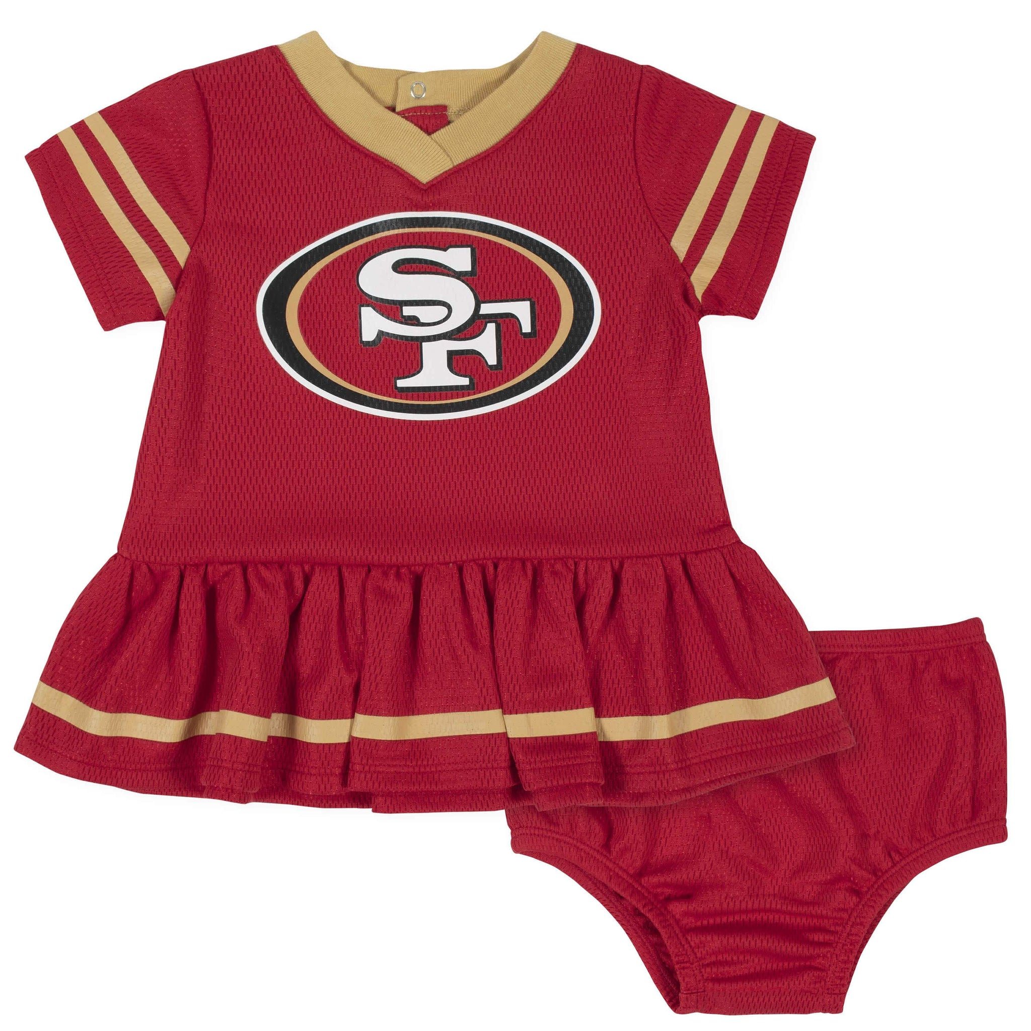 San Francisco 49ers Baby Girls Dress and Diaper Cover Set-Gerber Childrenswear