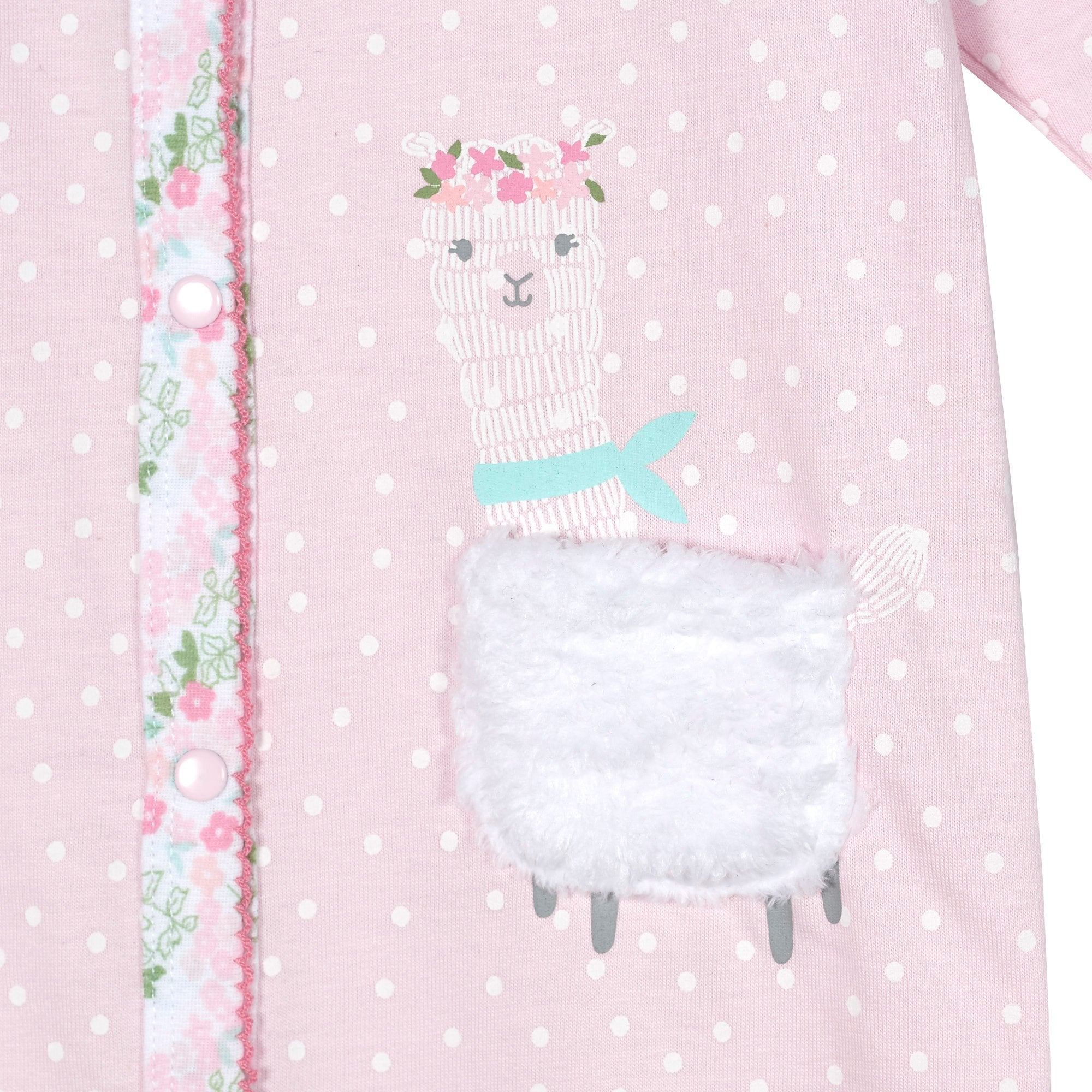 Just Born® Organic Baby Girls Lil' Llama Sleep 'n Play-Gerber Childrenswear