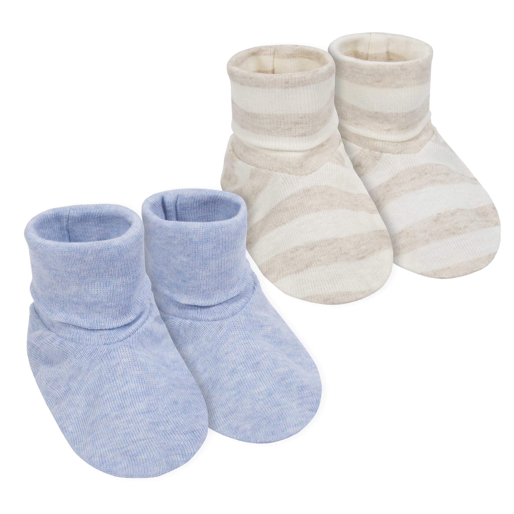 Gerber® 2-Pack Boys Organic Cotton Booties