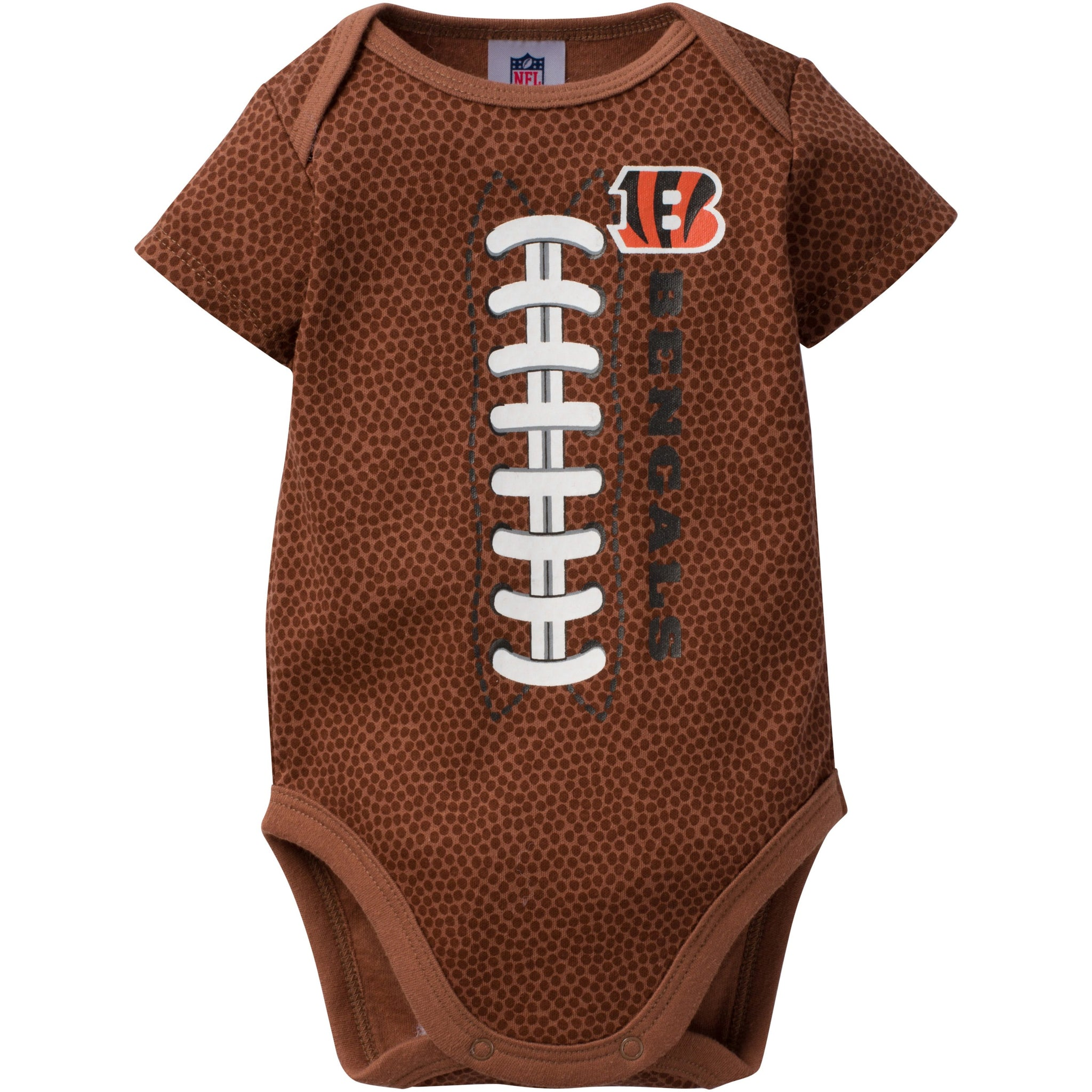 NFL Bengals Infant Short Sleeve Football Bodysuit-Gerber Childrenswear