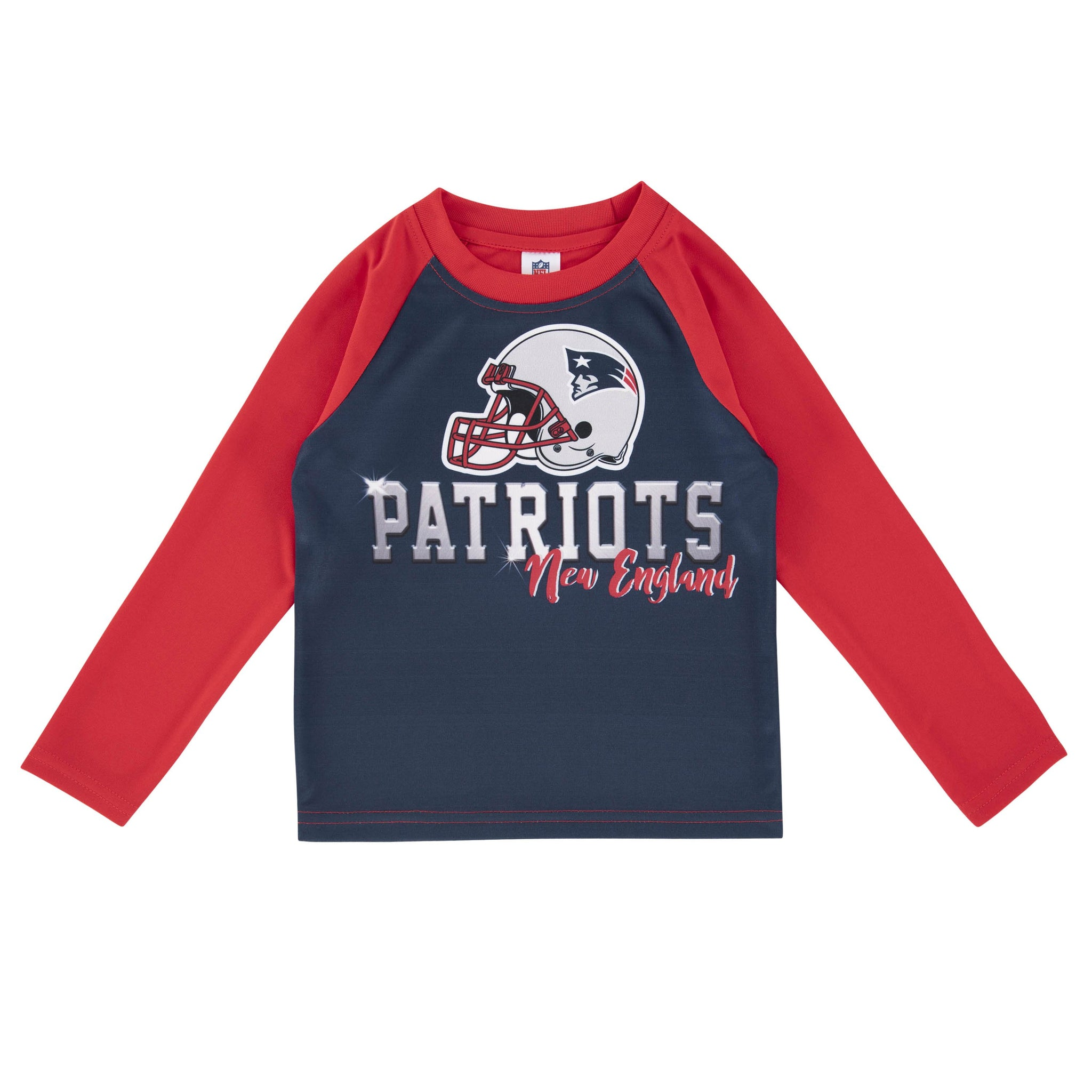 New England Patriots Toddler Boys' Long Sleeve Tee-Gerber Childrenswear