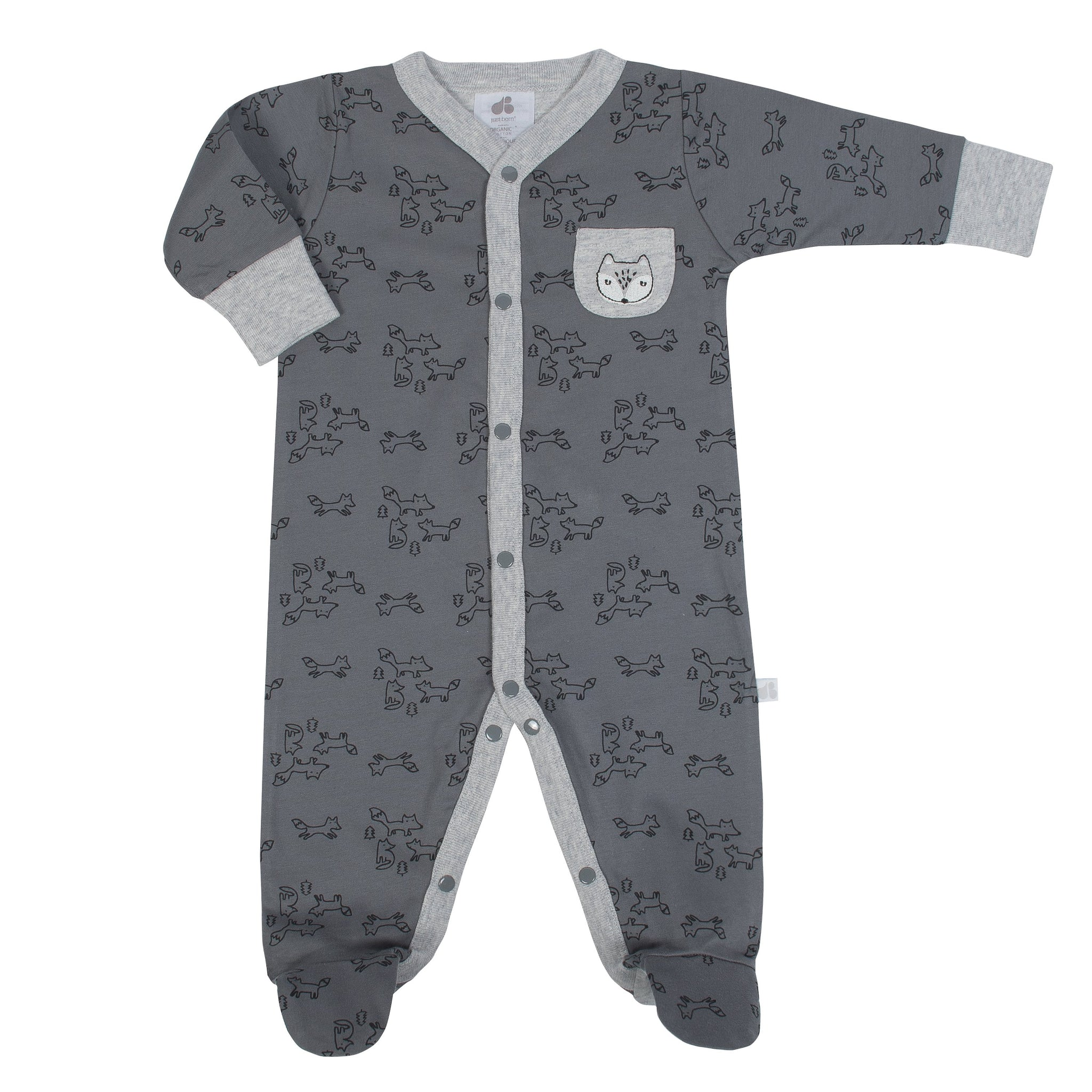 Baby Boy Just Born® Organic Fox Sleep N' Play