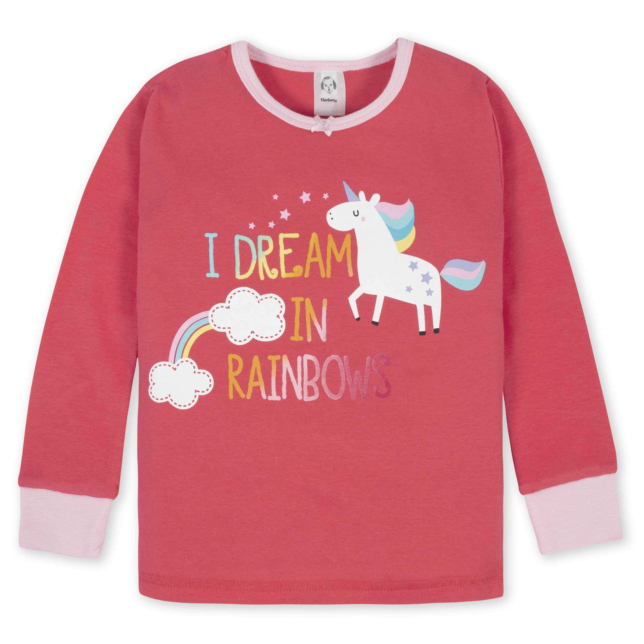 Gerber® 4-Piece Girls Unicorn Pajama Set