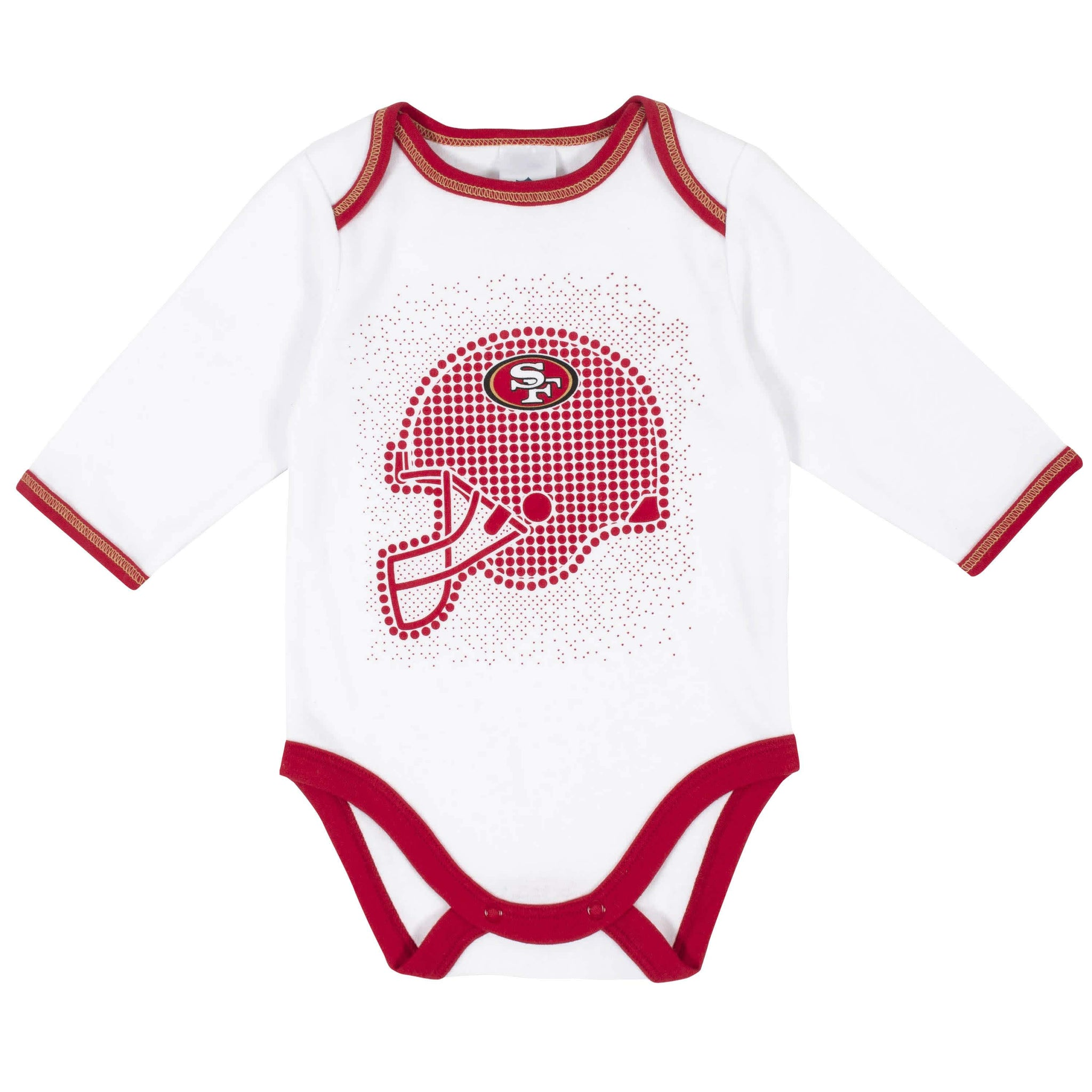 San Francisco 49ers 3-Piece Baby Boys Bodysuit, Pant, and Cap Set-Gerber Childrenswear