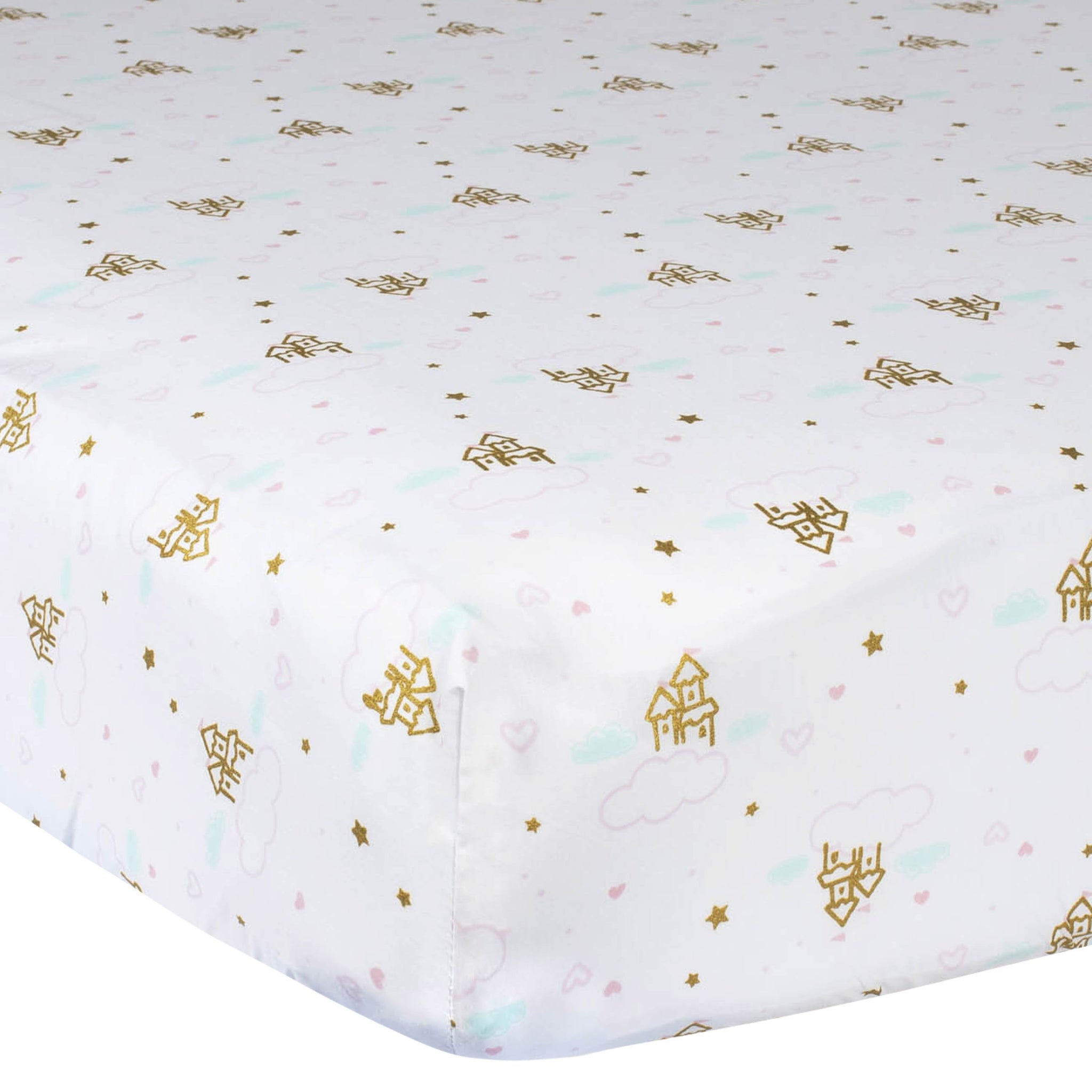 Gerber 2-Pack Baby Girls Castles Fitted Crib Sheet