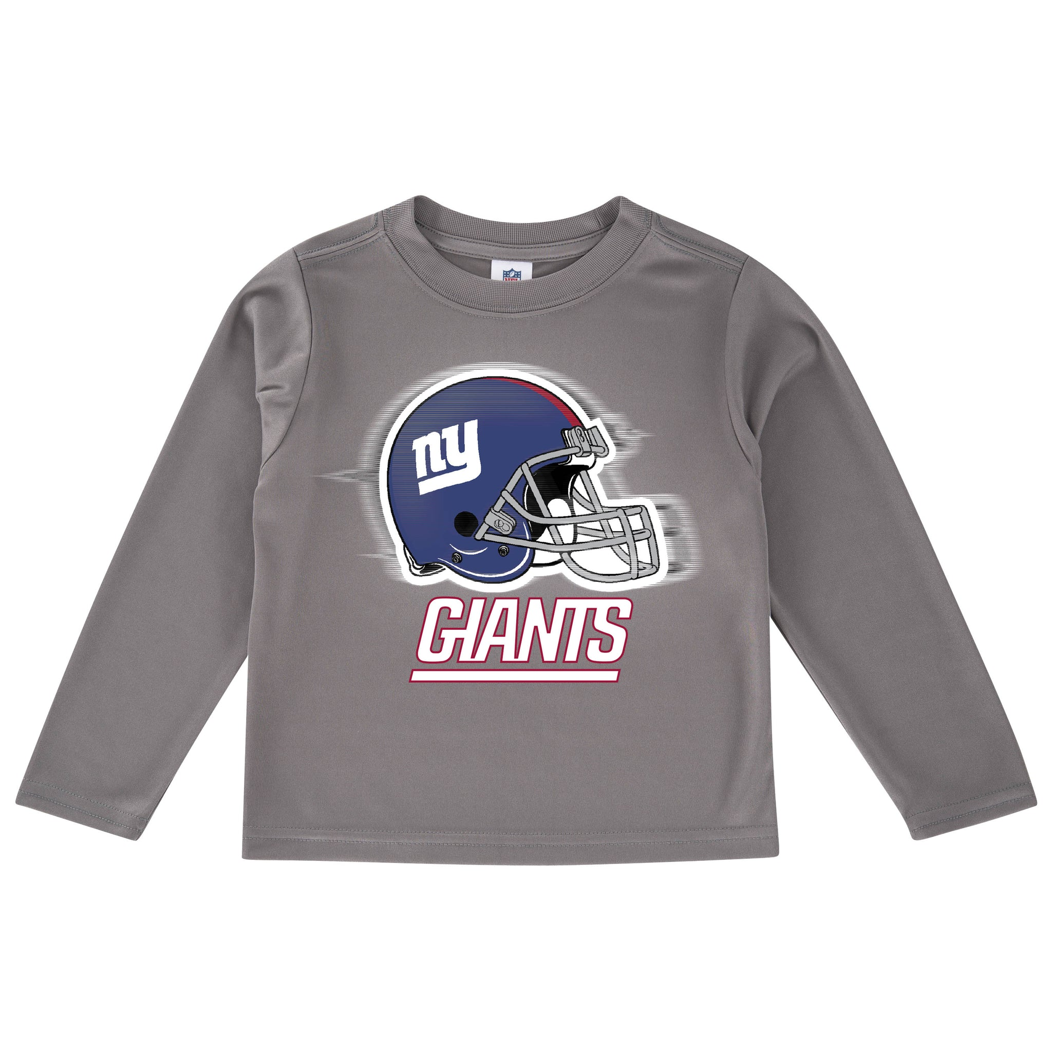New York Giants Toddler Boys' Long Sleeve Logo Tee-Gerber Childrenswear
