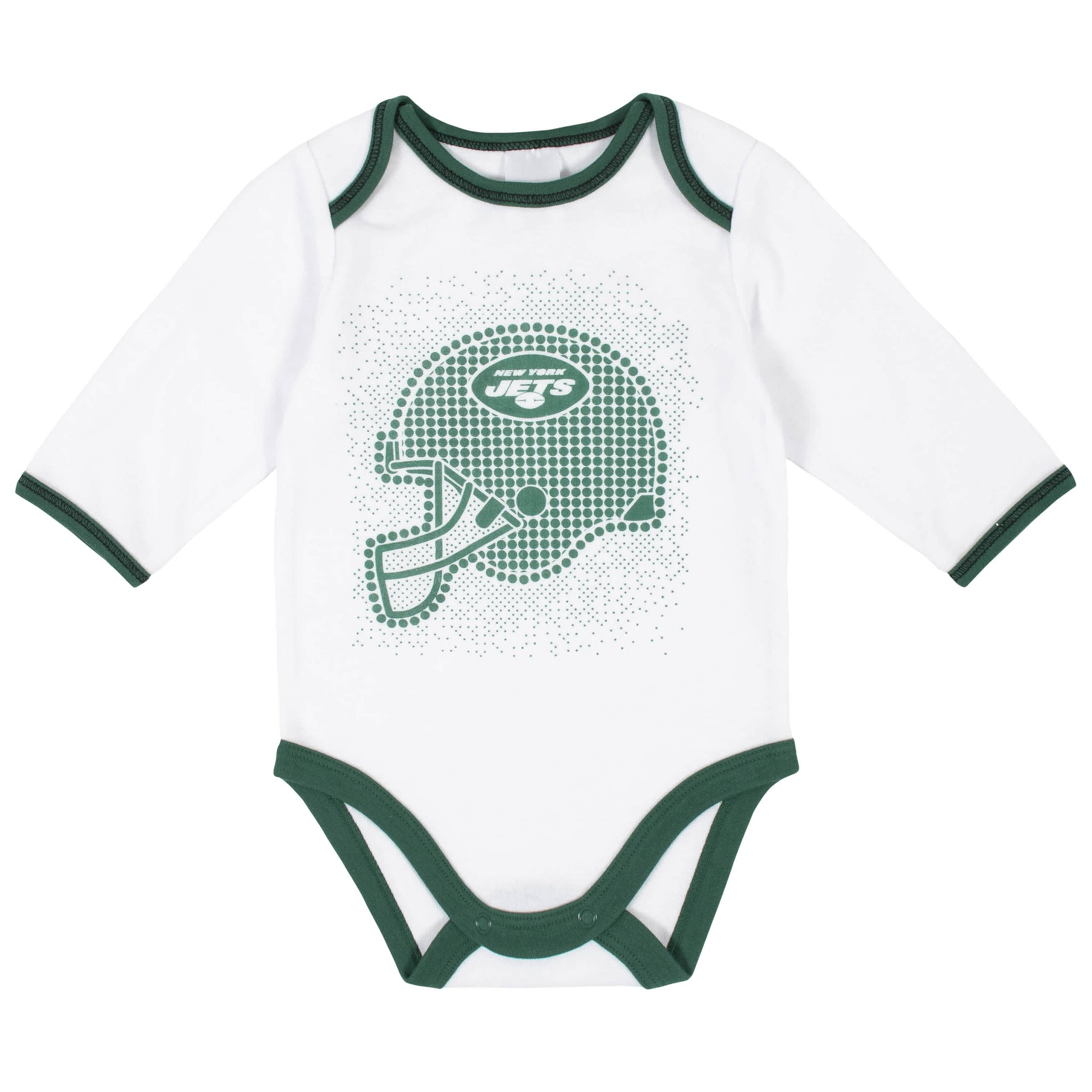 New York Jets 3-Piece Baby Boys Bodysuit, Pant, and Cap Set-Gerber Childrenswear