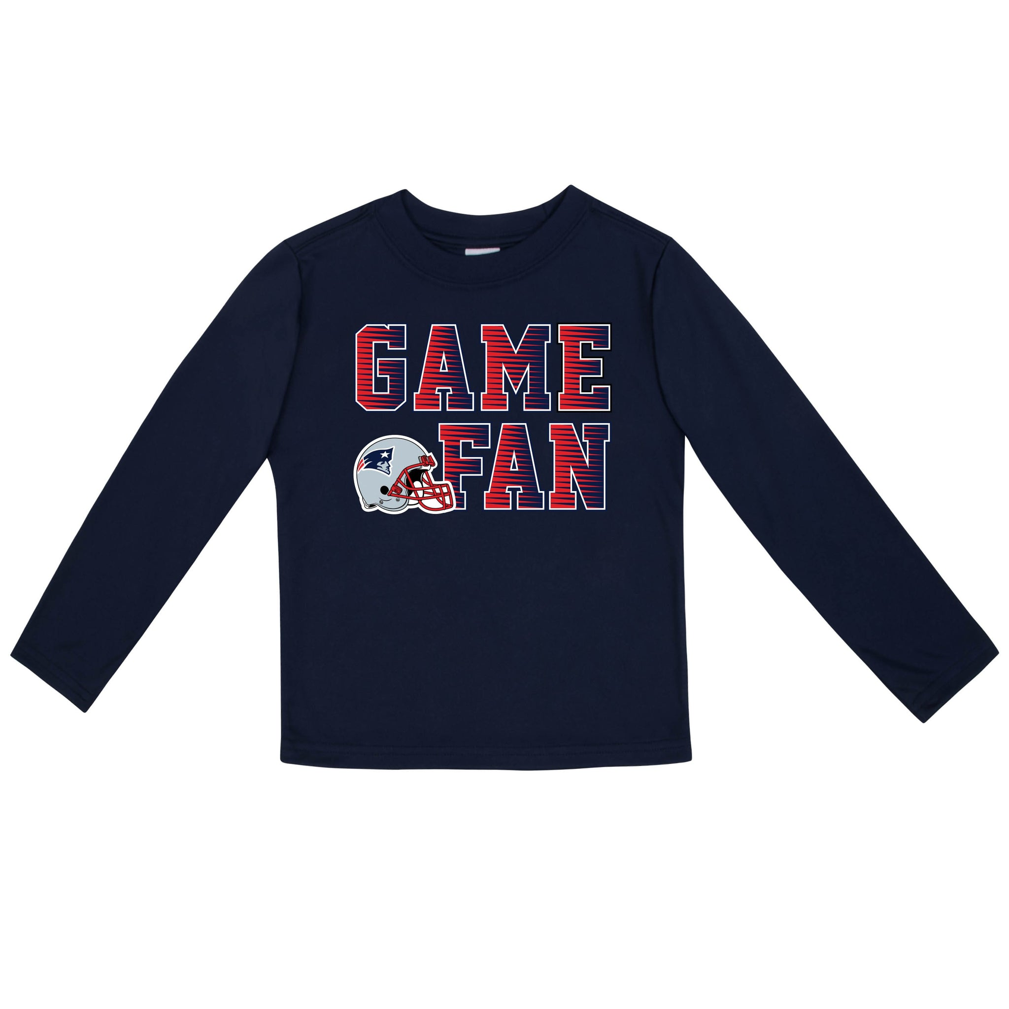 New England Patriots Boys Long Sleeve Tee Shirt-Gerber Childrenswear