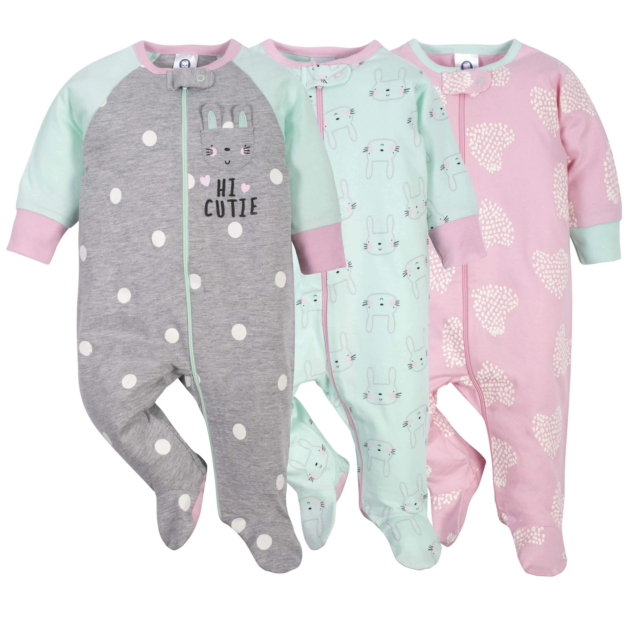 Gerber® 3-Pack Baby Girls Bunny Sleep 'N Plays