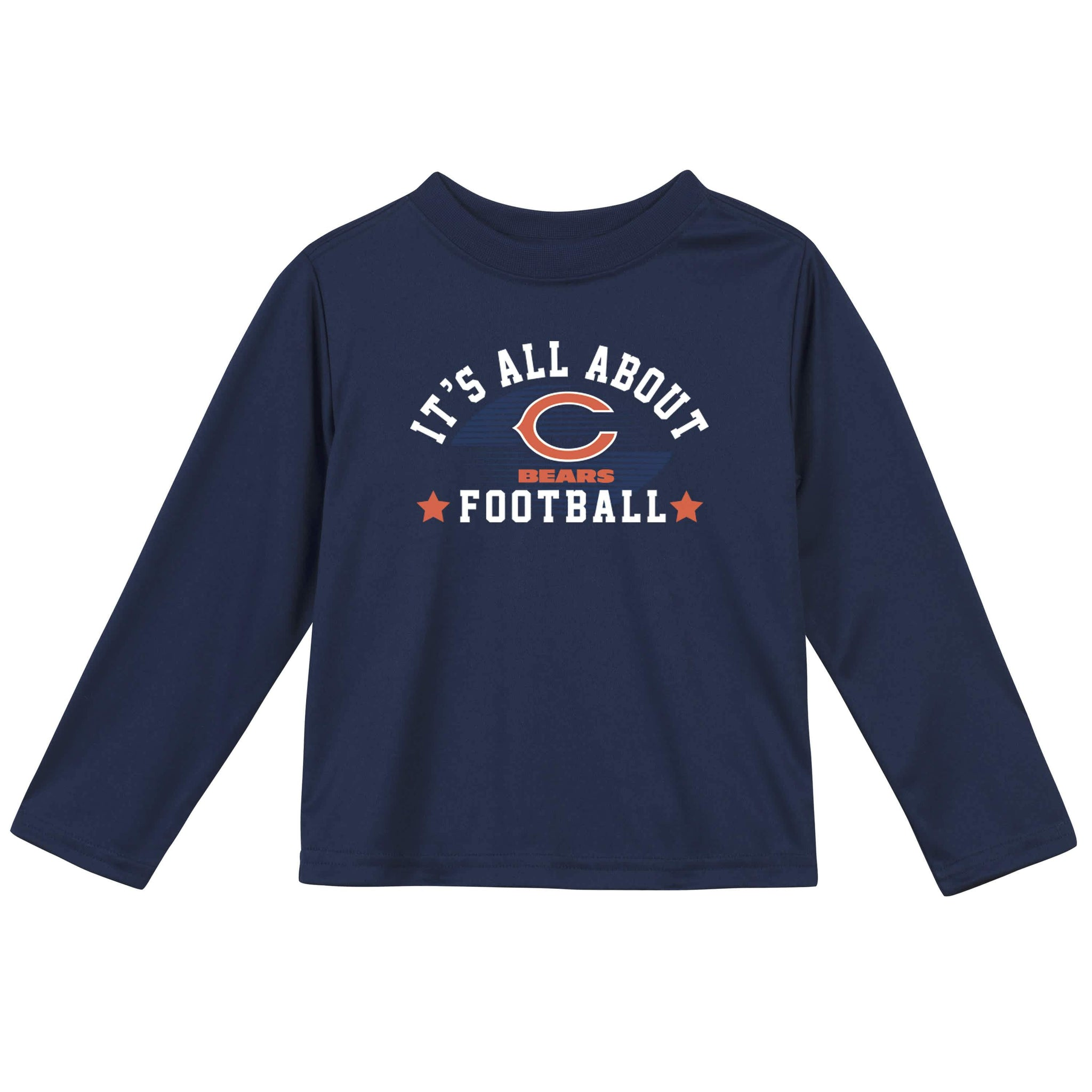 Chicago Bears Baby and Toddler Boys Long Sleeve Tee Shirt-Gerber Childrenswear