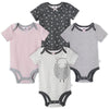 Just Born® Organic Baby Girls 4-Pack Short Sleeve Lil' Lamb Bodysuits-Gerber Childrenswear