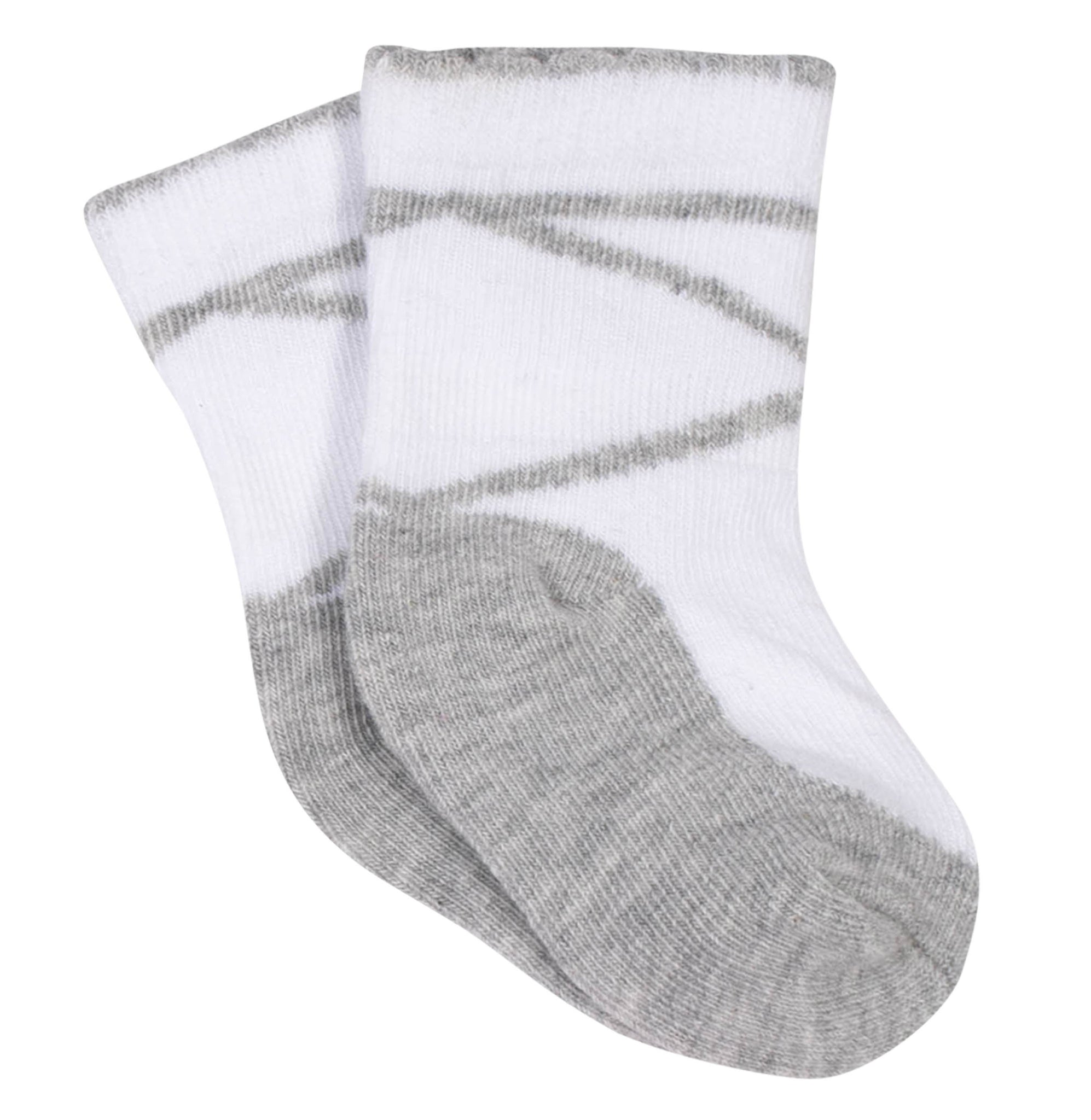 Girls' 8-Pack Wiggle Proof Jersey Crew Socks - Grey Heather