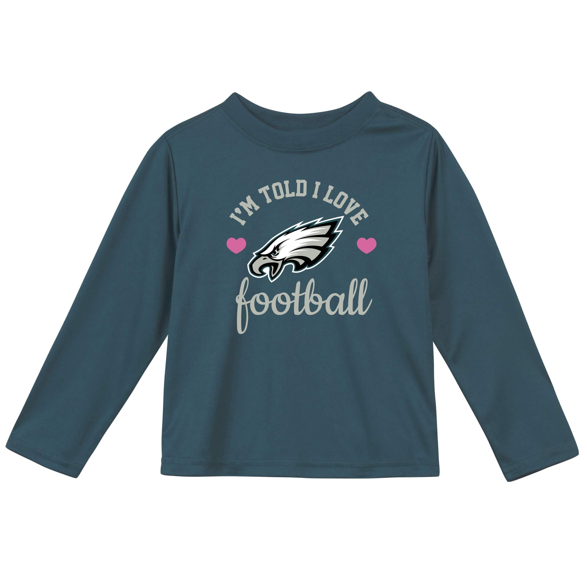 Philidelphia Eagles Girls Long Sleeve Tee Shirt-Gerber Childrenswear