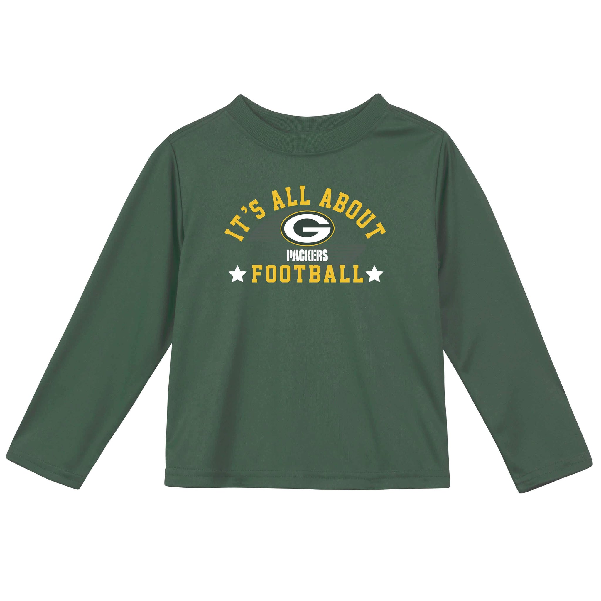Green Bay Packers Baby and Toddler Boys Long Sleeve Tee Shirt-Gerber Childrenswear
