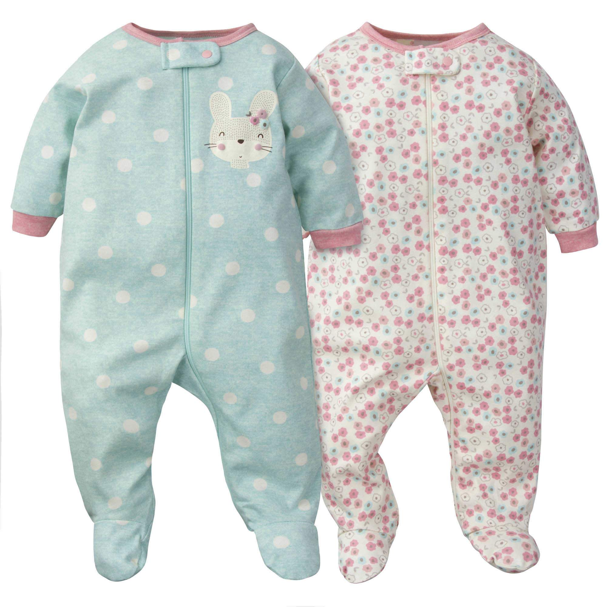 Gerber® 2-Pack Baby Girls Bunny Organic Sleep N' Plays