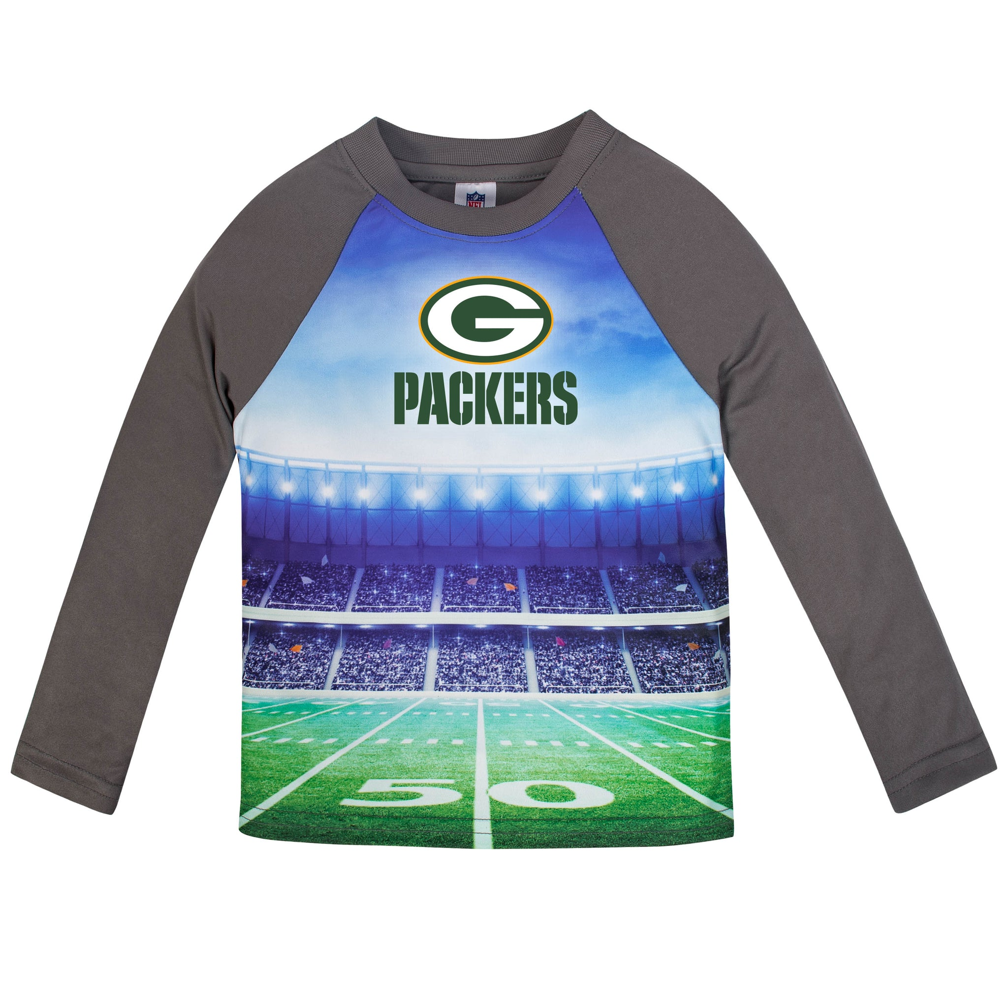 Green Bay Packers Boys Long Sleeve Tee Shirt-Gerber Childrenswear