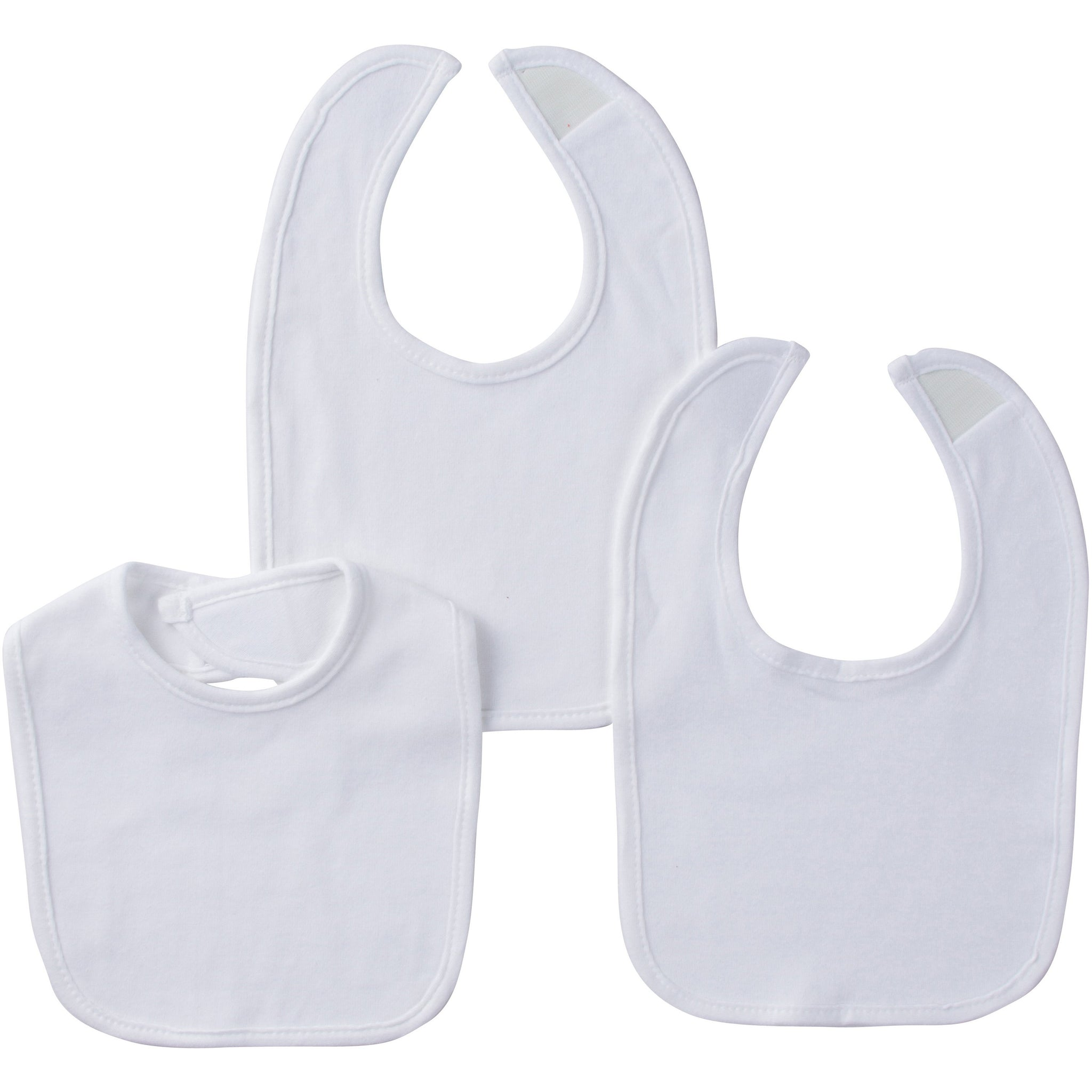 Gerber® 3-Pack White Essential Bibs-Gerber Childrenswear