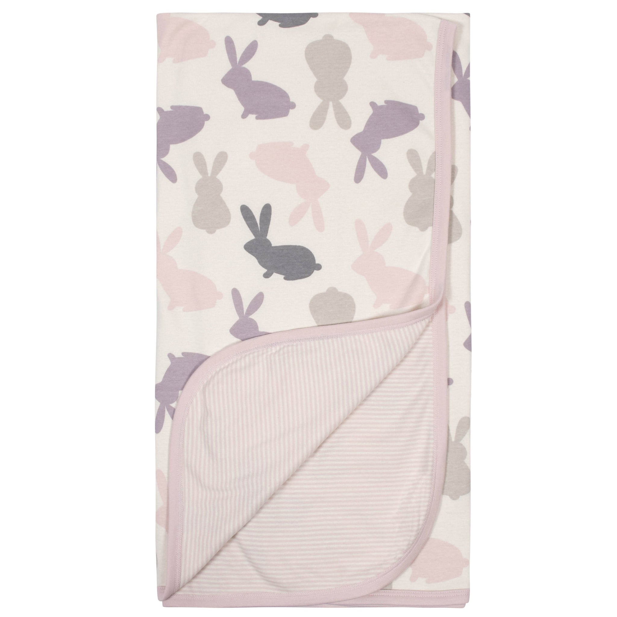 Gerber® Baby Girls Reversible Blanket - Bunny