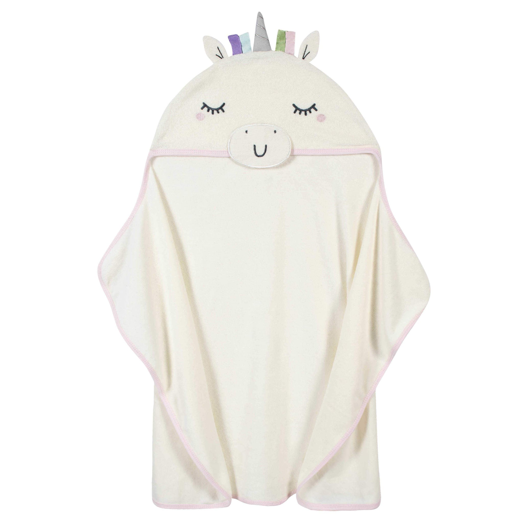 1-Pack Baby Girls' Unicorn Hooded Bath Wrap