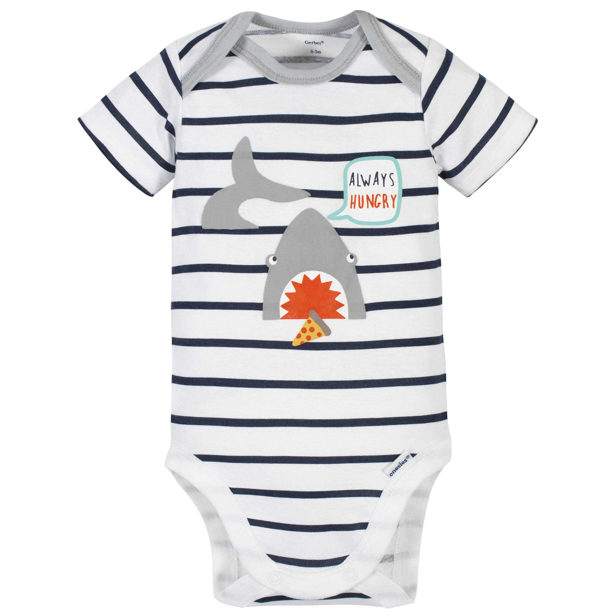 4-Piece Baby Boys Shark Onesies Bodysuit, Short, Shirt, and Active Pant Set-Gerber Childrenswear