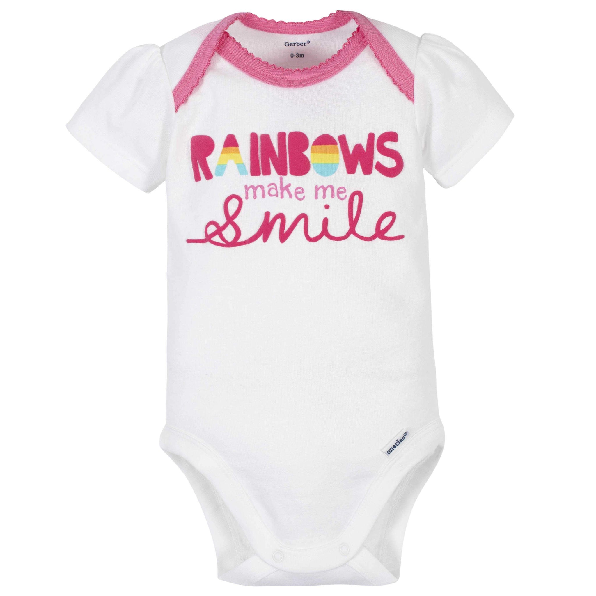Gerber® 4-Piece Baby Girls Rainbow Onesies Bodysuit, Skirted Panty, Shirt, and Slim Pant Set-Gerber Childrenswear