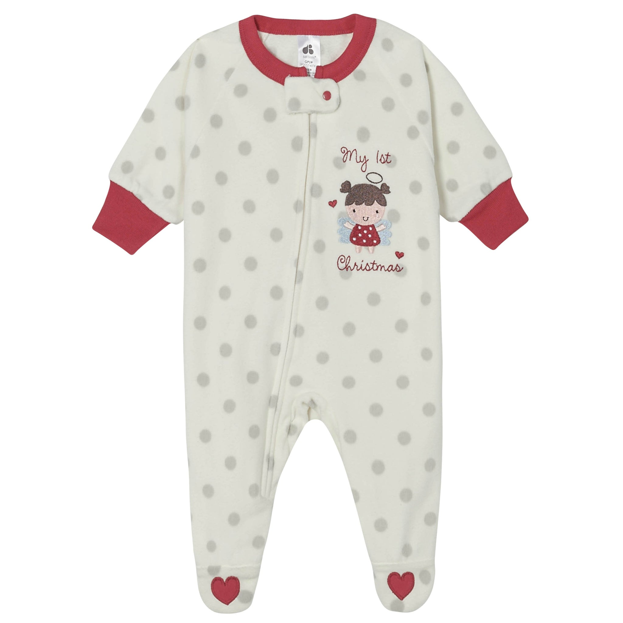 Just Born® Baby Girls My First Christmas Holiday Blanket Sleeper-Gerber Childrenswear